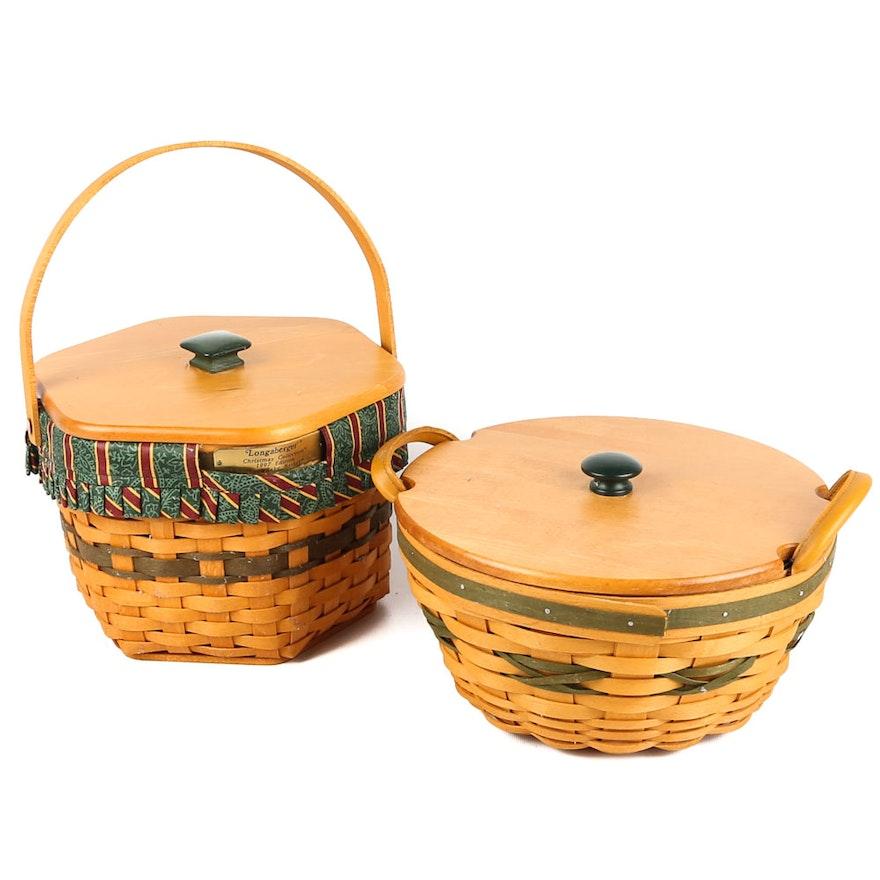 Longaberger Christmas Basket.Longaberger Christmas Baskets 1997 And 1999