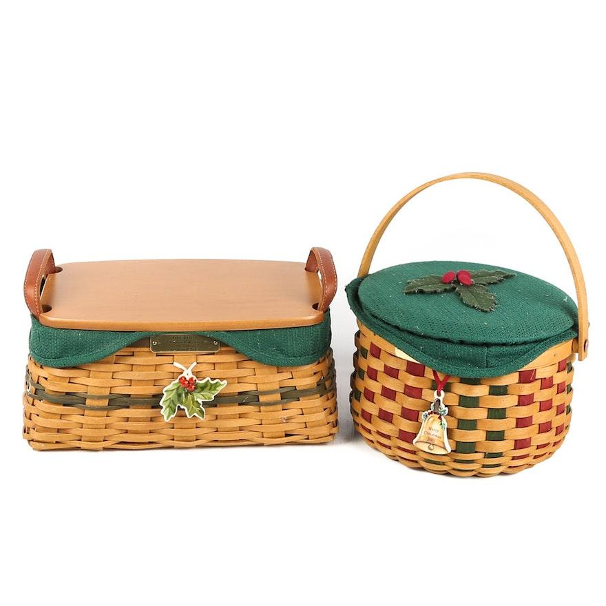 Longaberger Christmas Basket.Longaberger Christmas Baskets 2002 And 2003