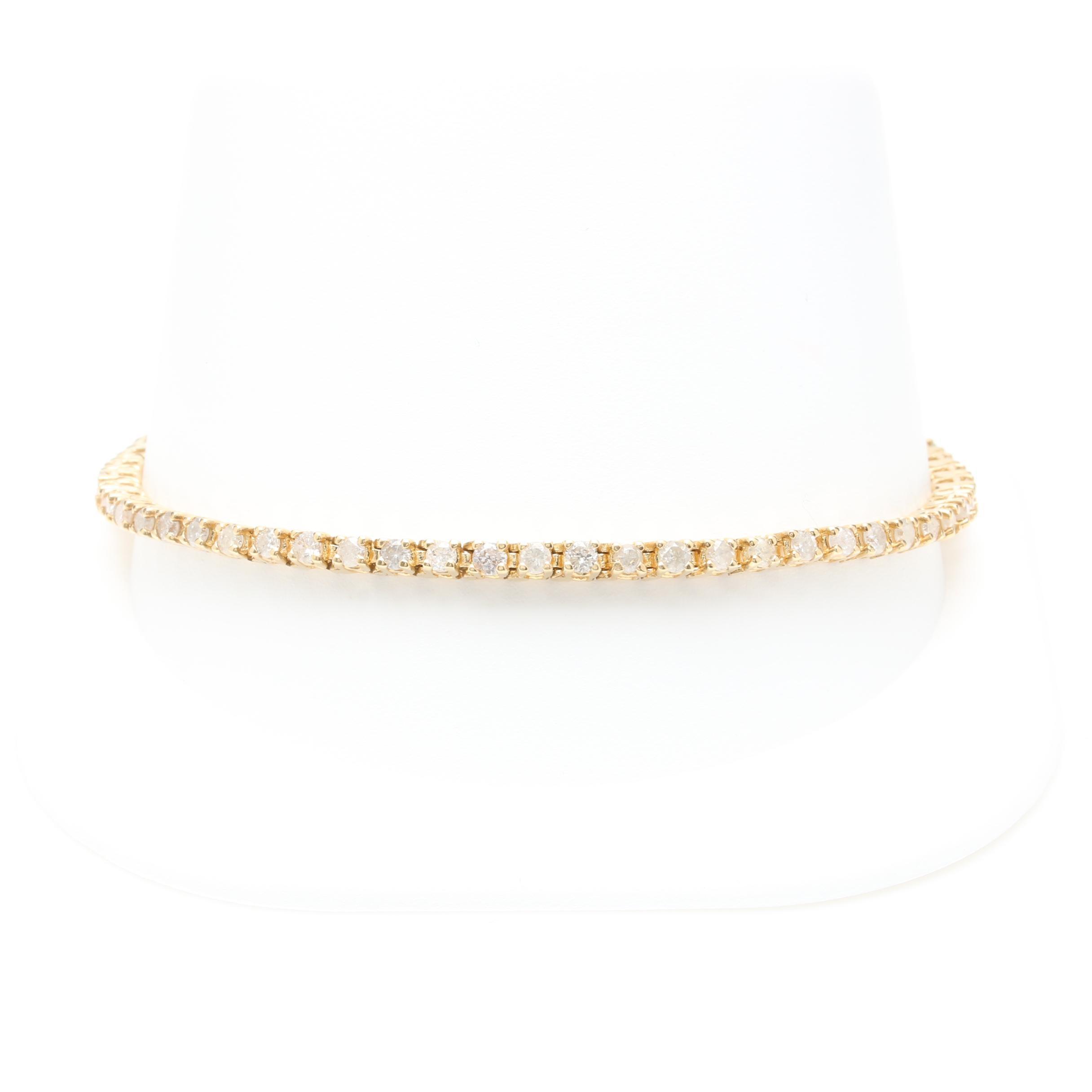 14K Yellow Gold 2.75 CTW Diamond Bracelet