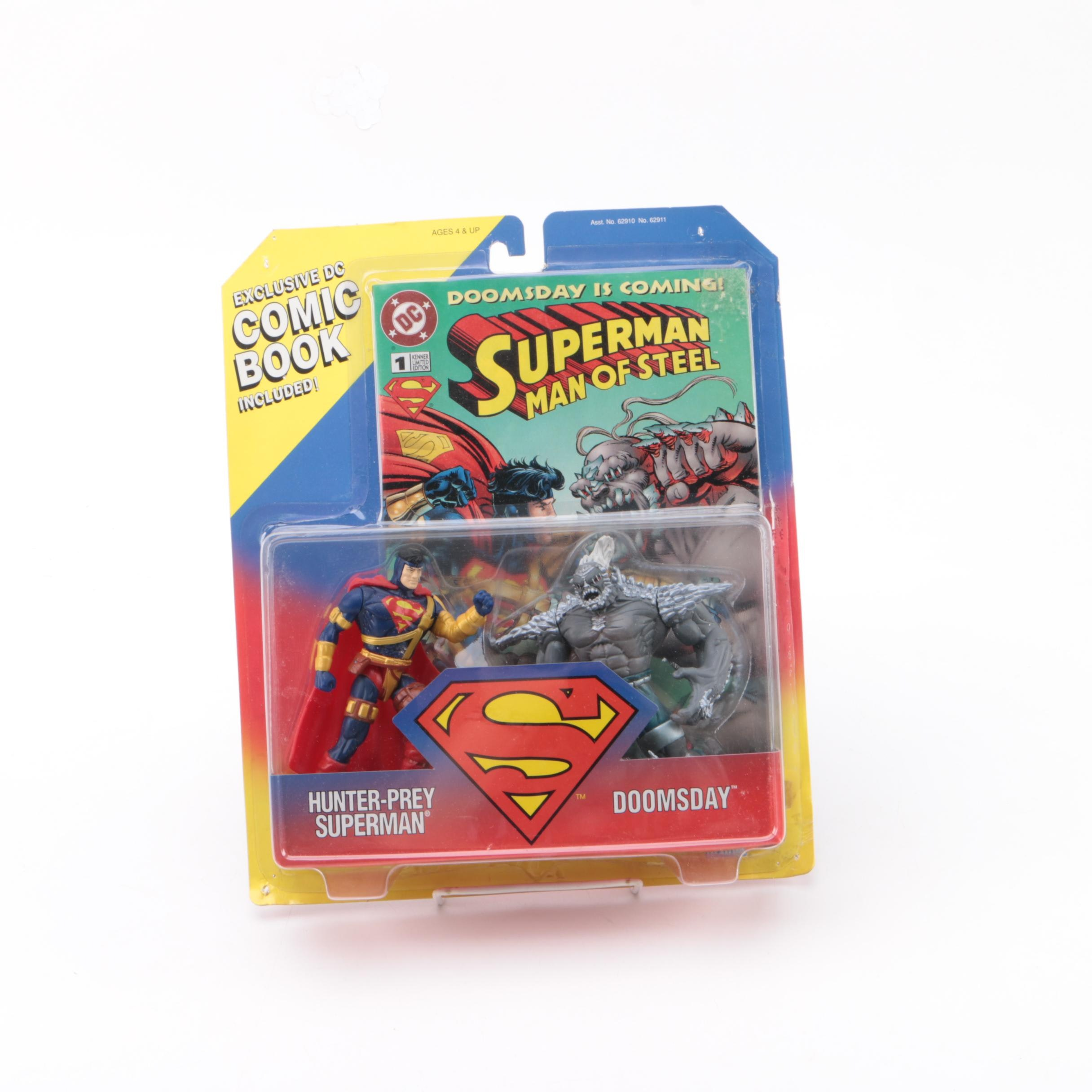 """""""Superman Man of Stee"""" Action Figure and Comic Book Set"""