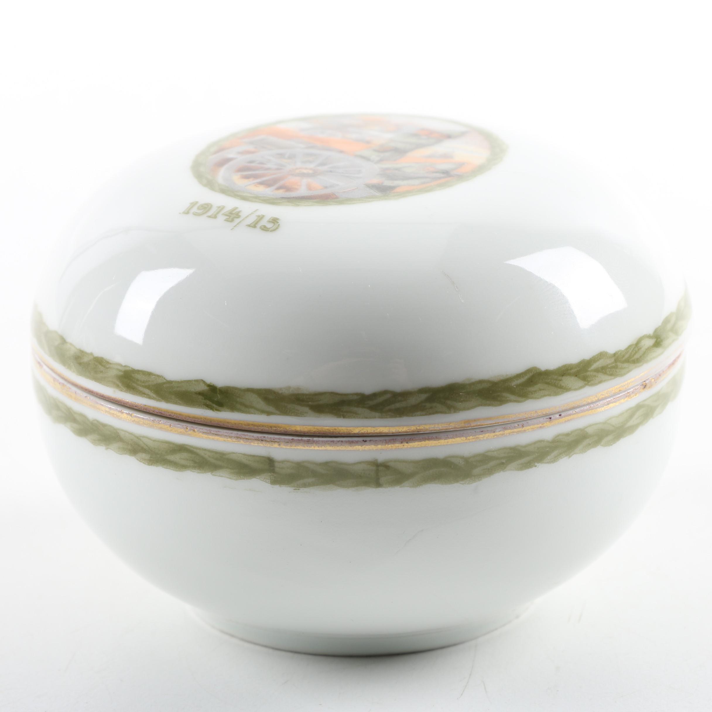 Rosenthal WWI Era Porcelain Trinket Box
