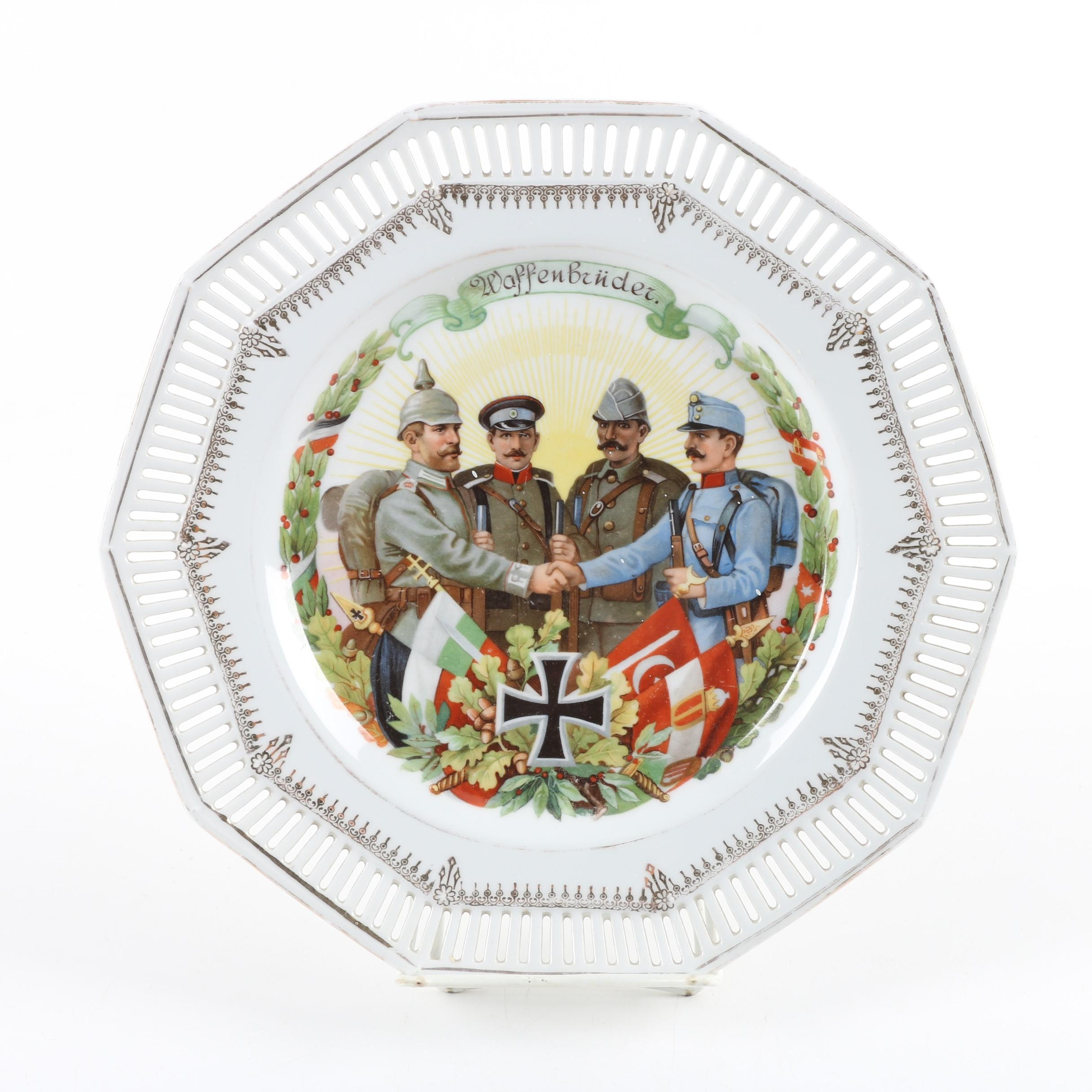 "Antique World War One ""Brothers in War"" Plate"