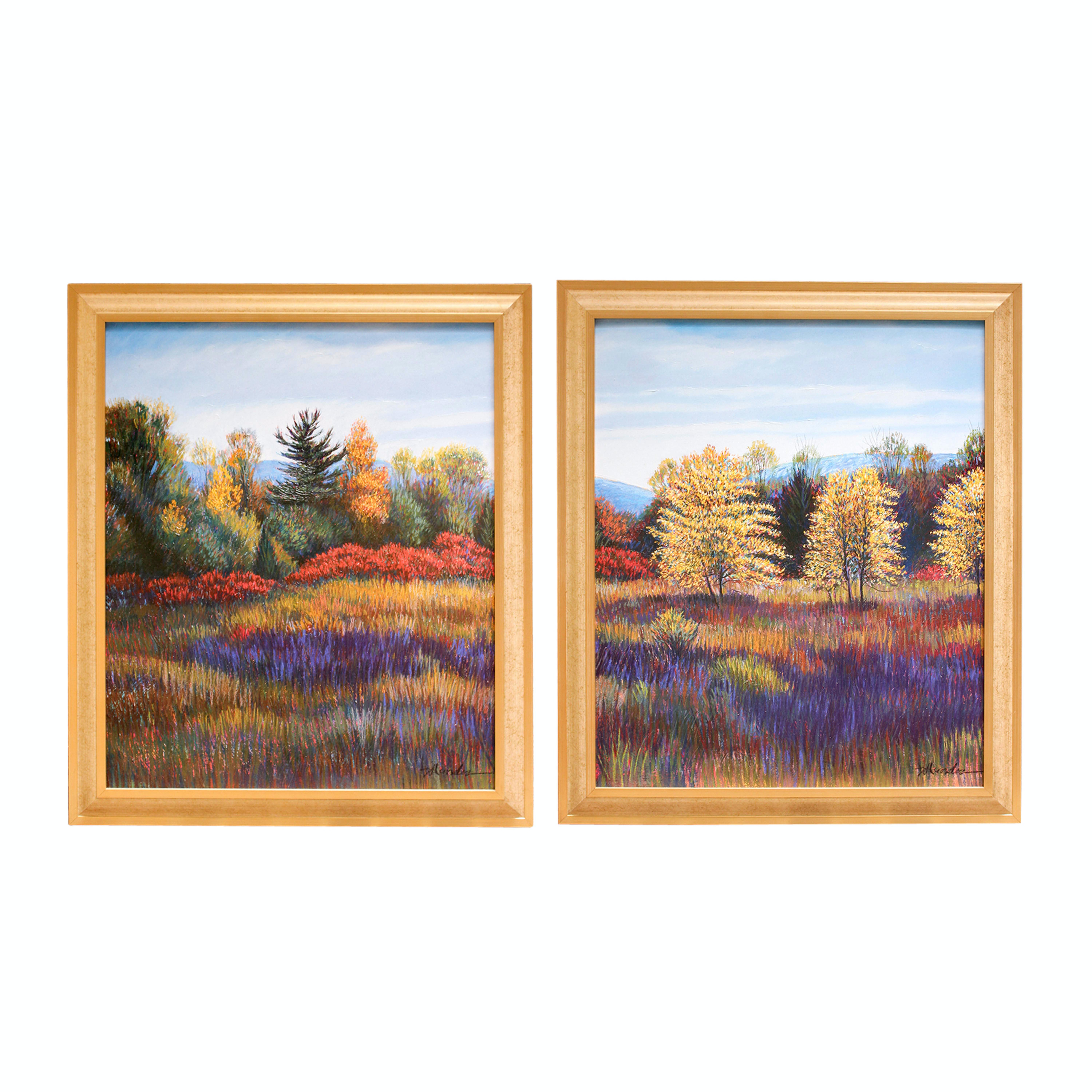 Pair of Framed and Painted Giclee Prints