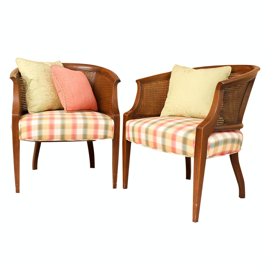 Upholstered Cane Side Chairs