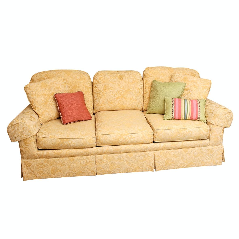 Sherrill Damask Upholstered Sofa
