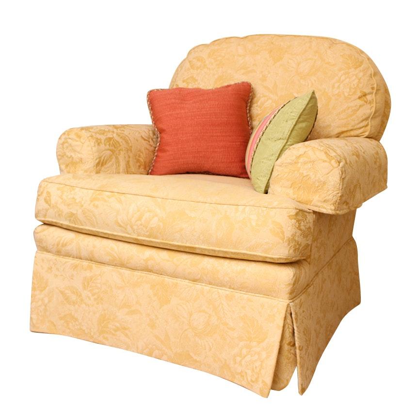 Sherrill Damask Upholstered Armchair