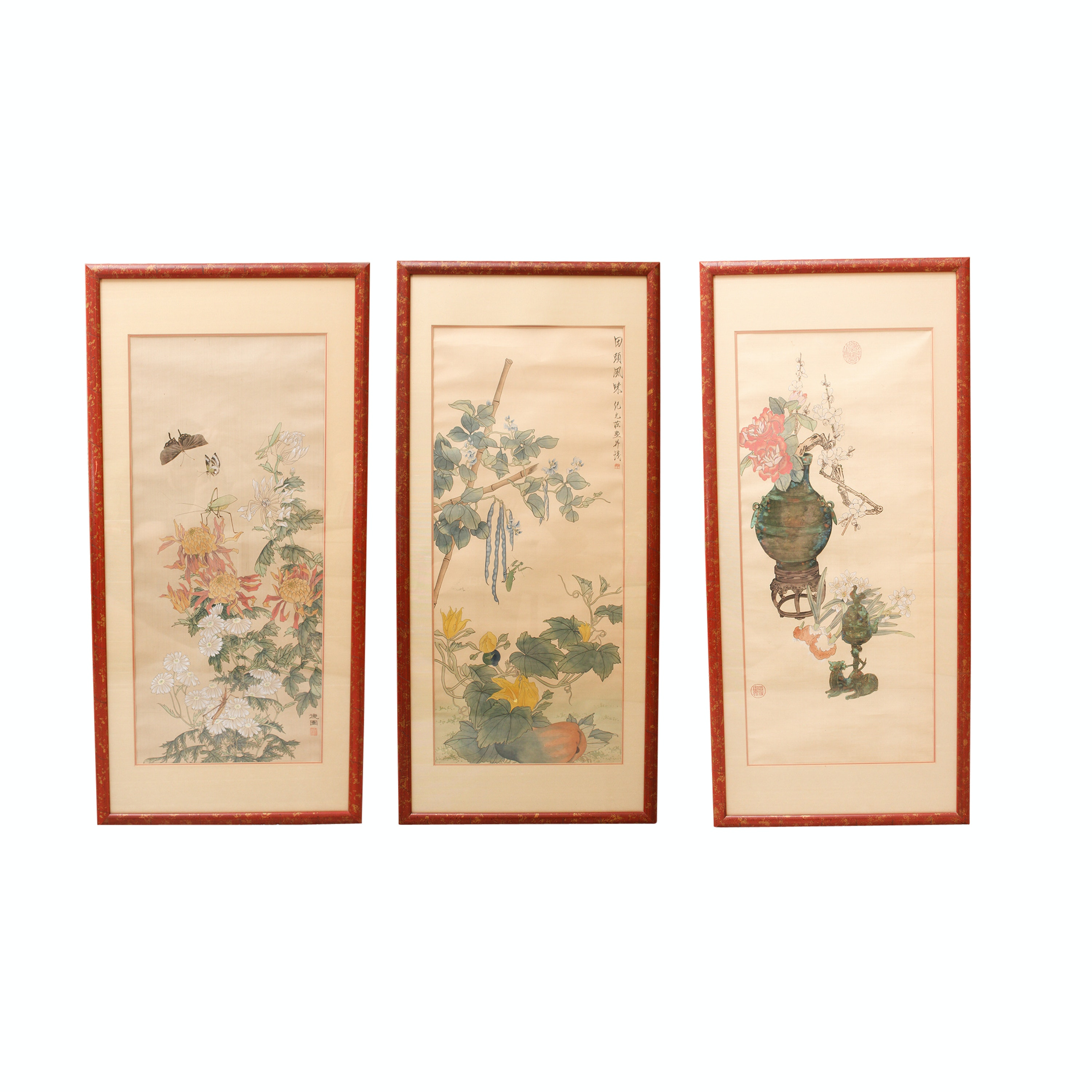 20th Century Chinese Botanical  Paintings