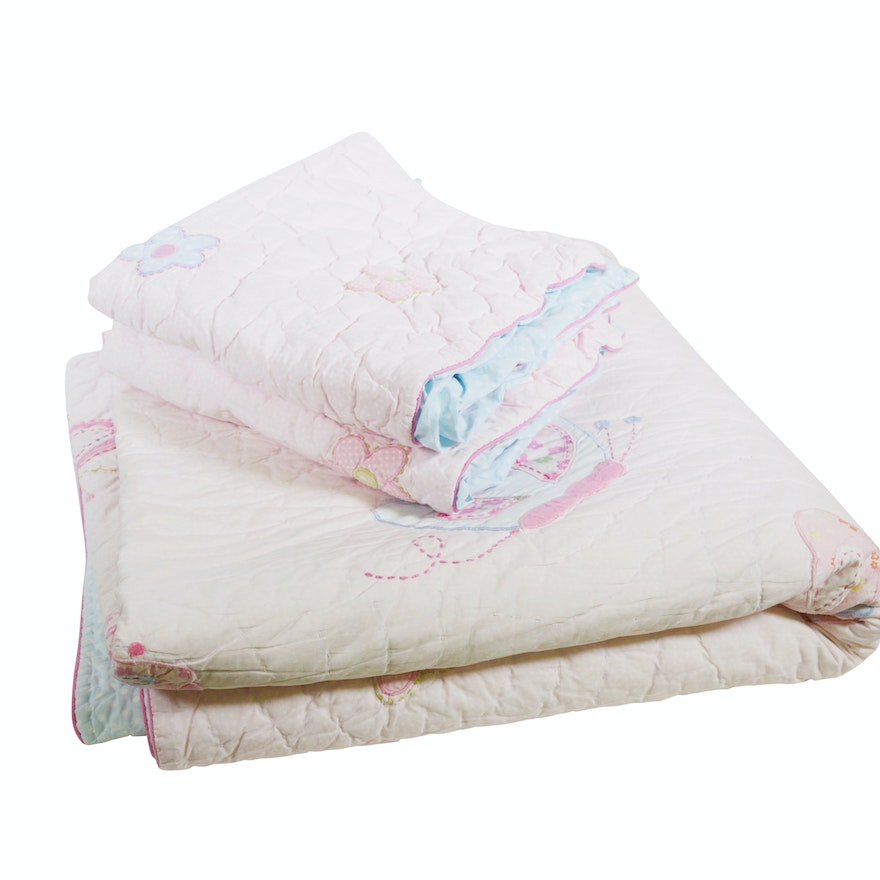 Pottery Barn Kids Full Queen Size Quilt And Pillow Shams Ebth
