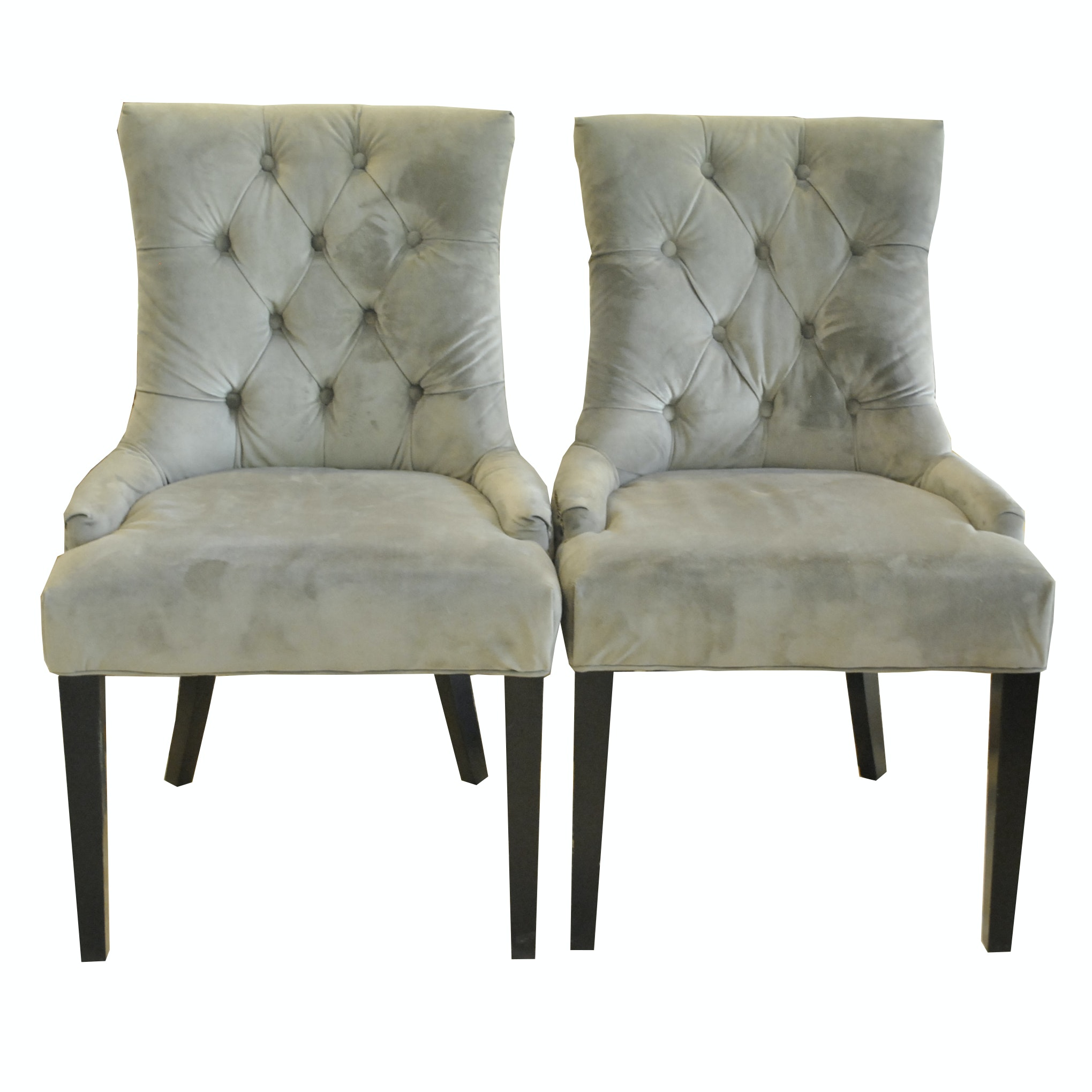 Pair of Contemporary Tufted Side Chairs by Safavieh