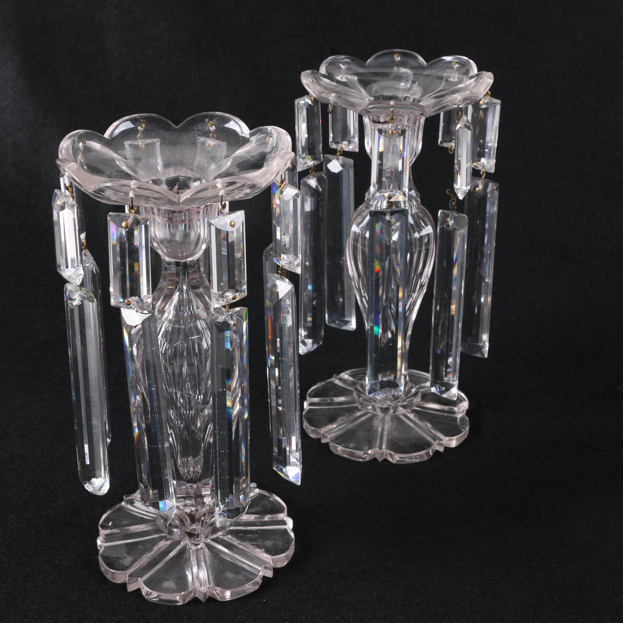 Prism Crystal Candle Holders