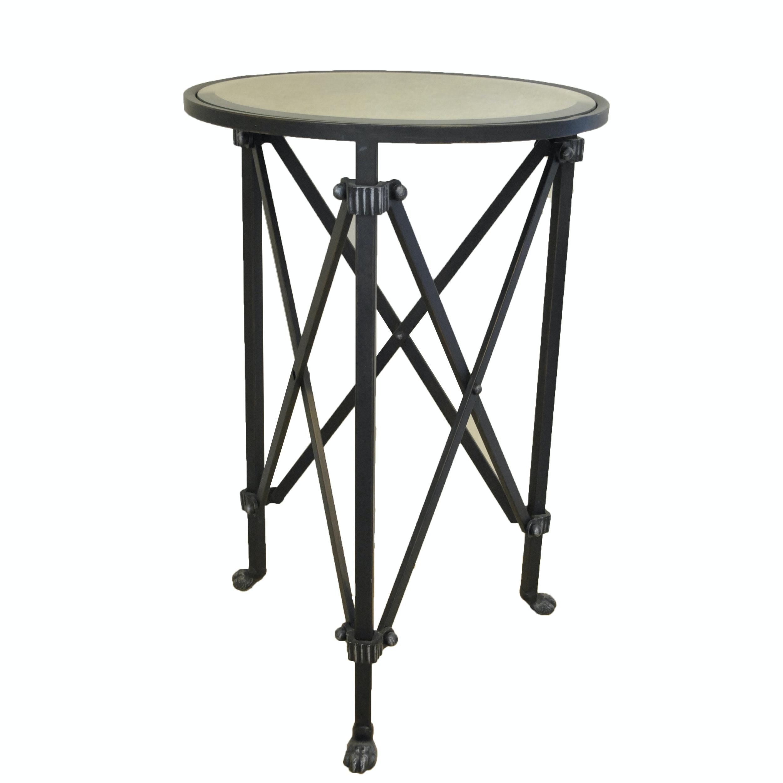 Metal Accordion Leg Side Table