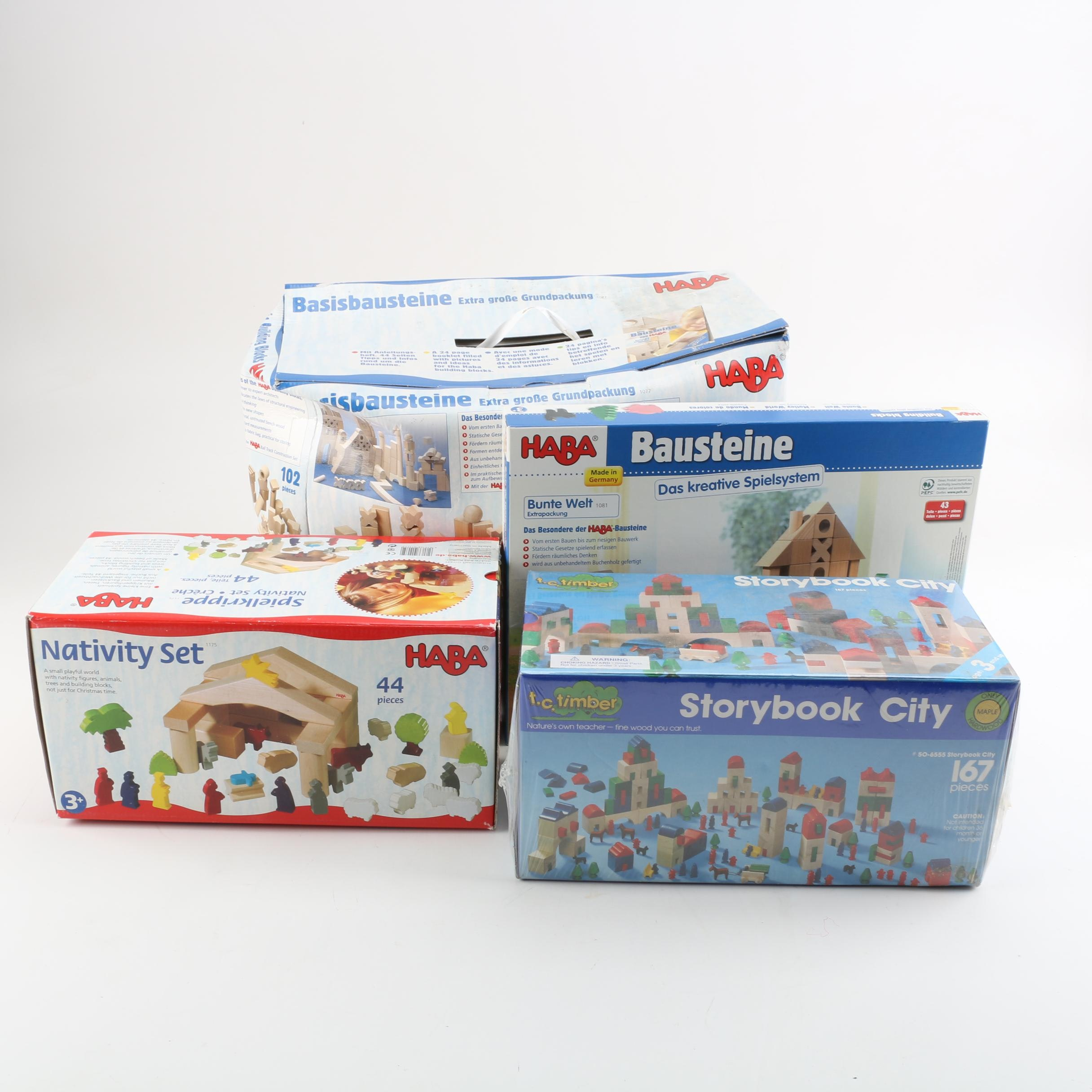 HABA and T.C. Timber Wooden Building Block Sets