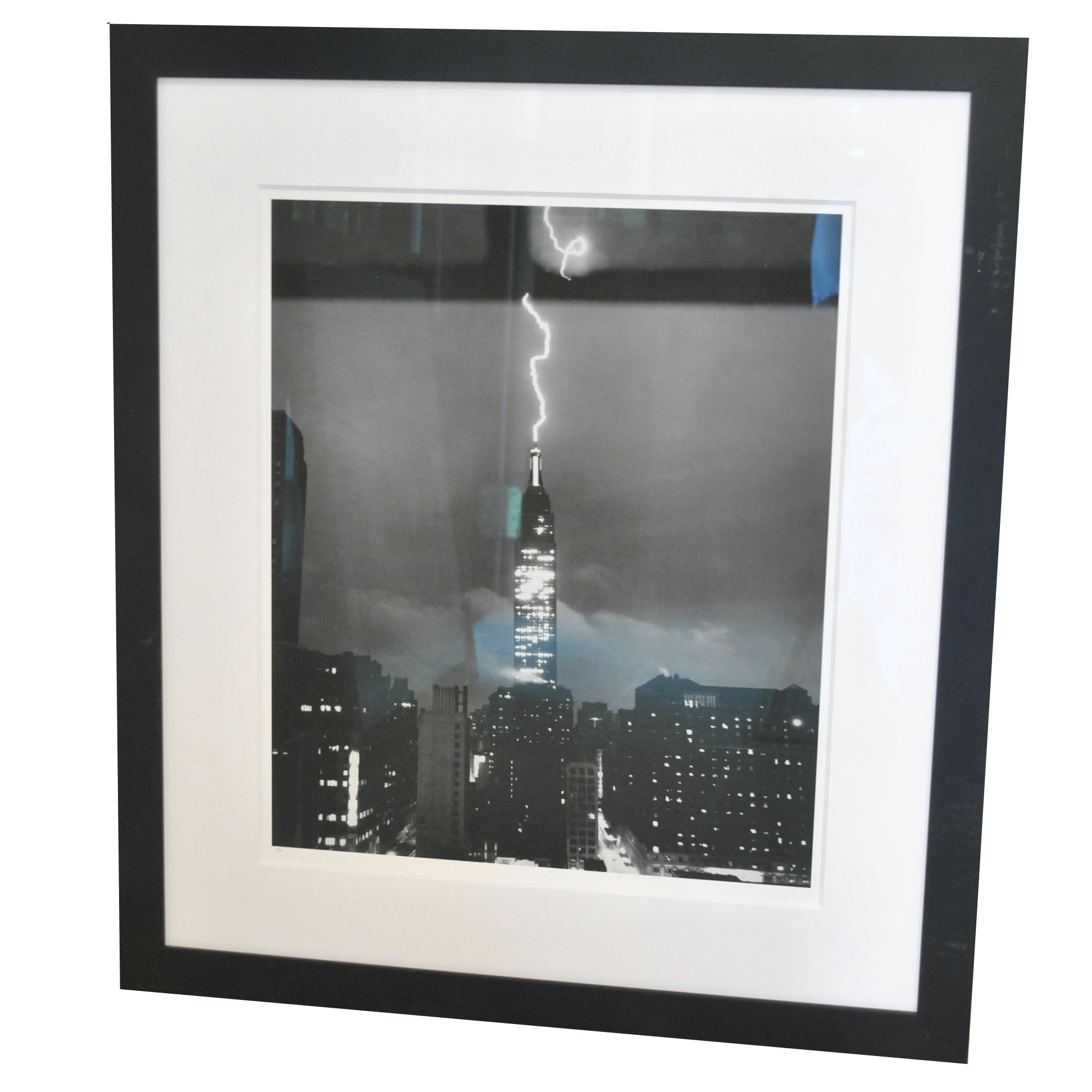 "Limited Edition Offset Lithograph ""Lightning Striking the Empire State Building"""