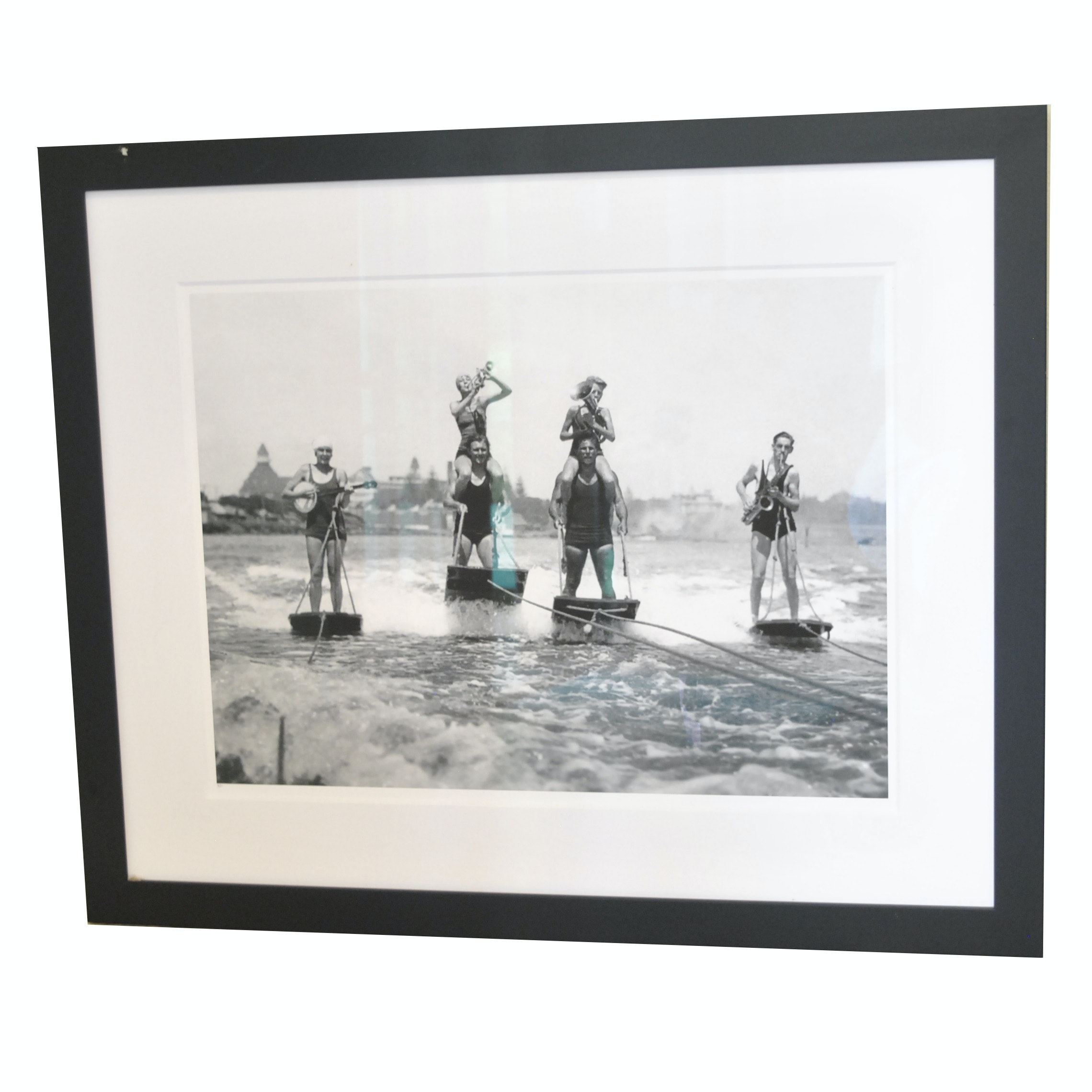 "Limited Edition Reproduction Print ""World's Only Aquaplane Band"""