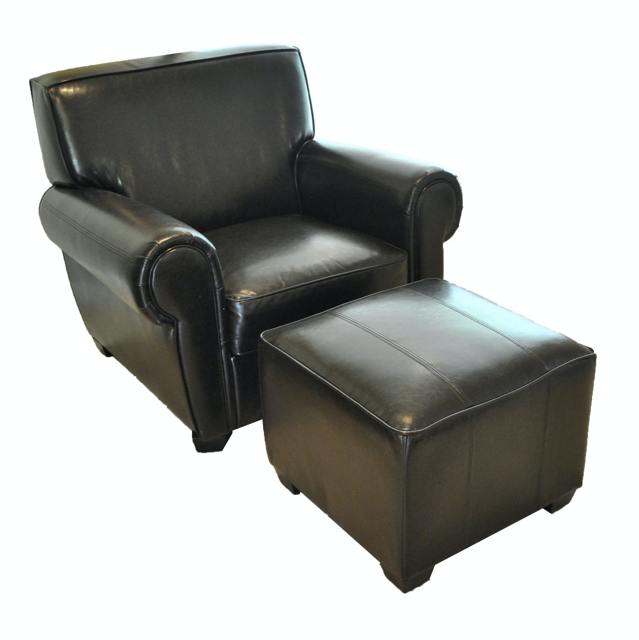 Upholstered Lounge Chair and Ottoman
