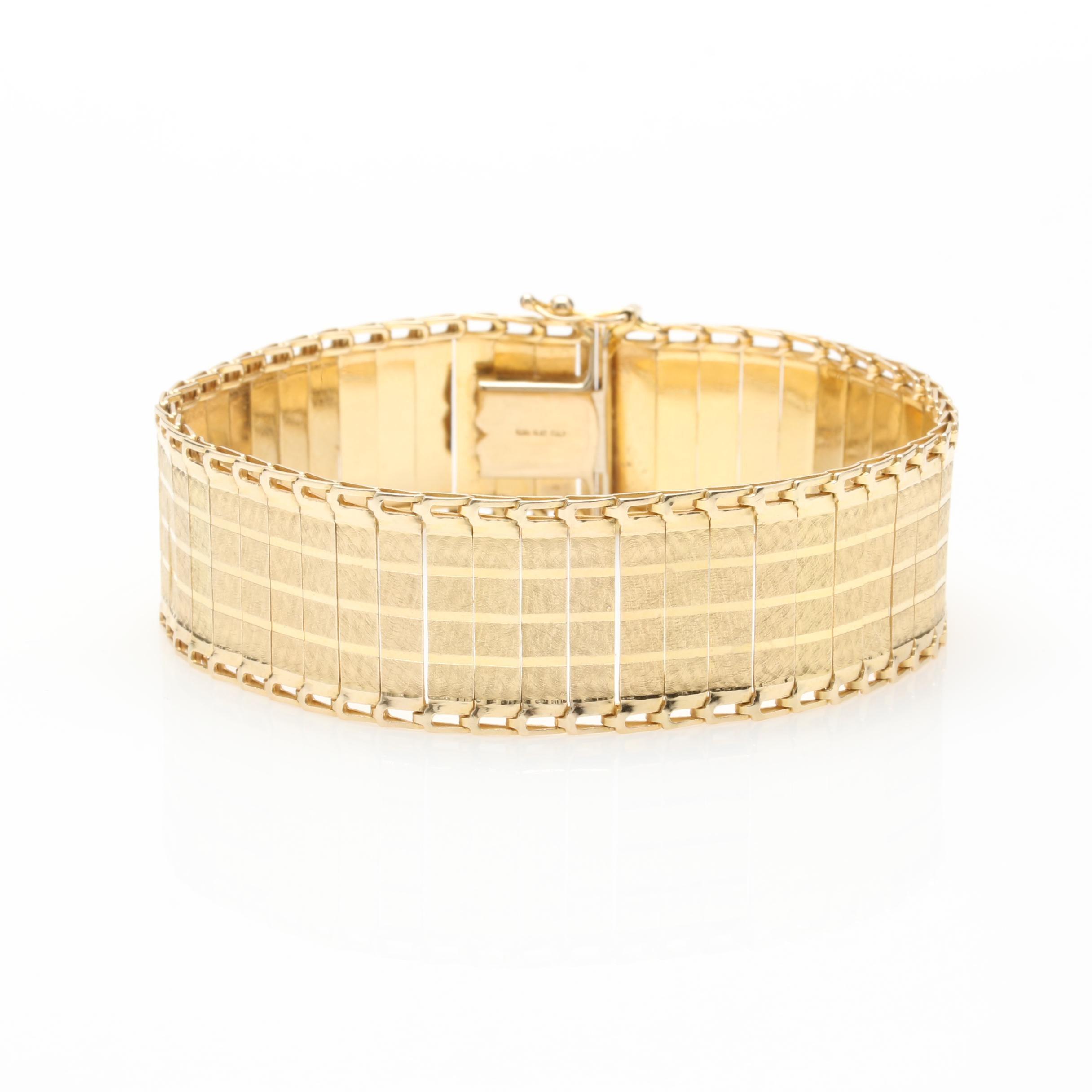 Italian 14K Yellow Gold Bracelet