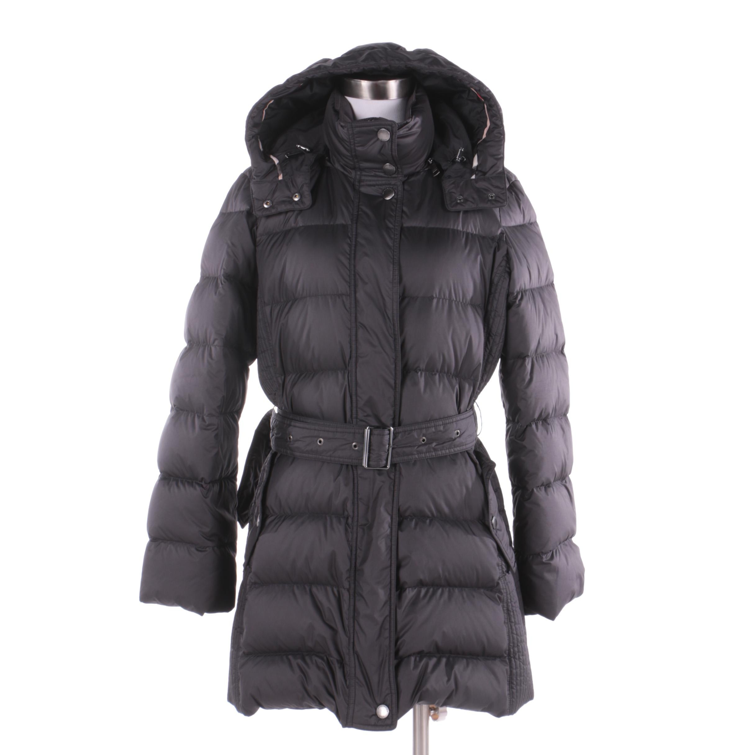 Women's Burberry Brit Black Puffer Coat