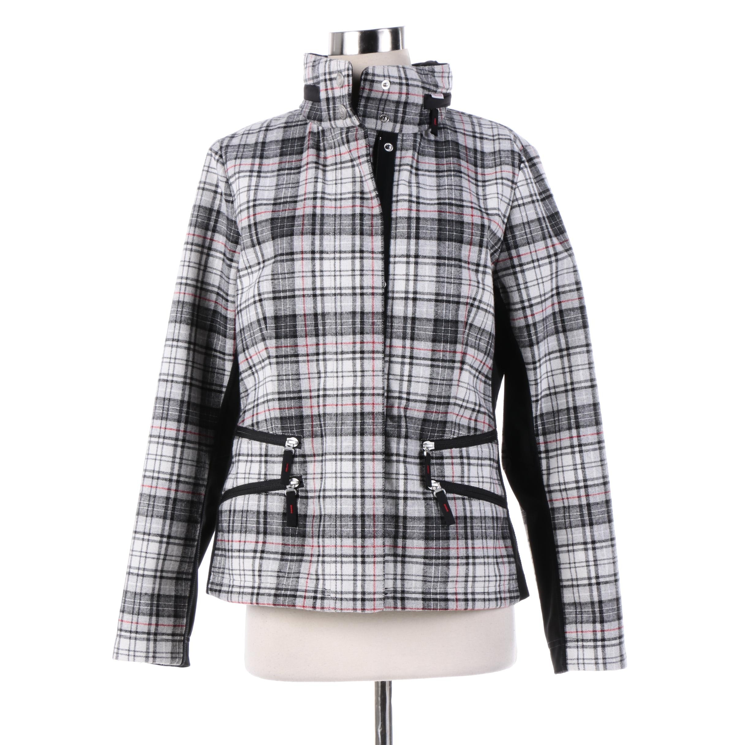 Women's Bogner Fire + Ice Plaid Jacket