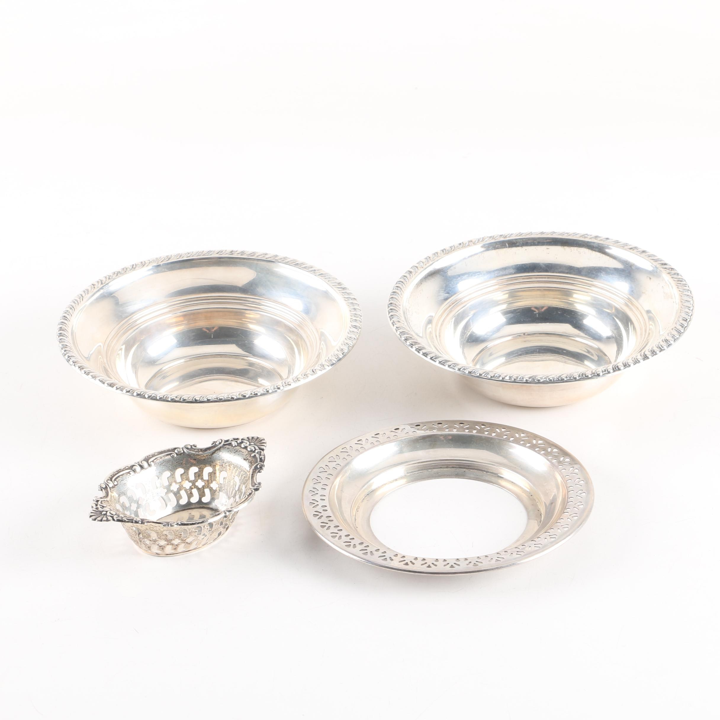 Frank M. Whiting & Co. Sterling Silver Nut Bowl with Other Sterling Bowls