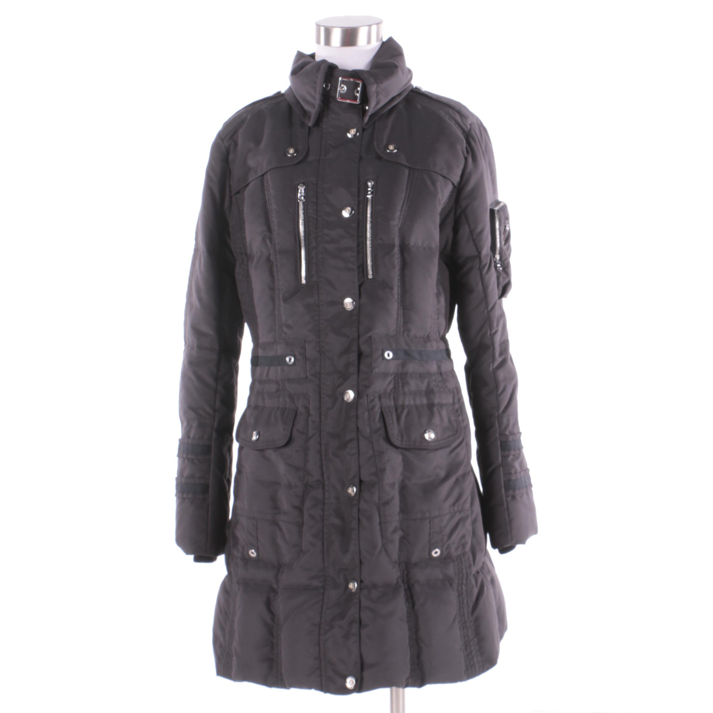 Women's Bogner Black Quilted Parka