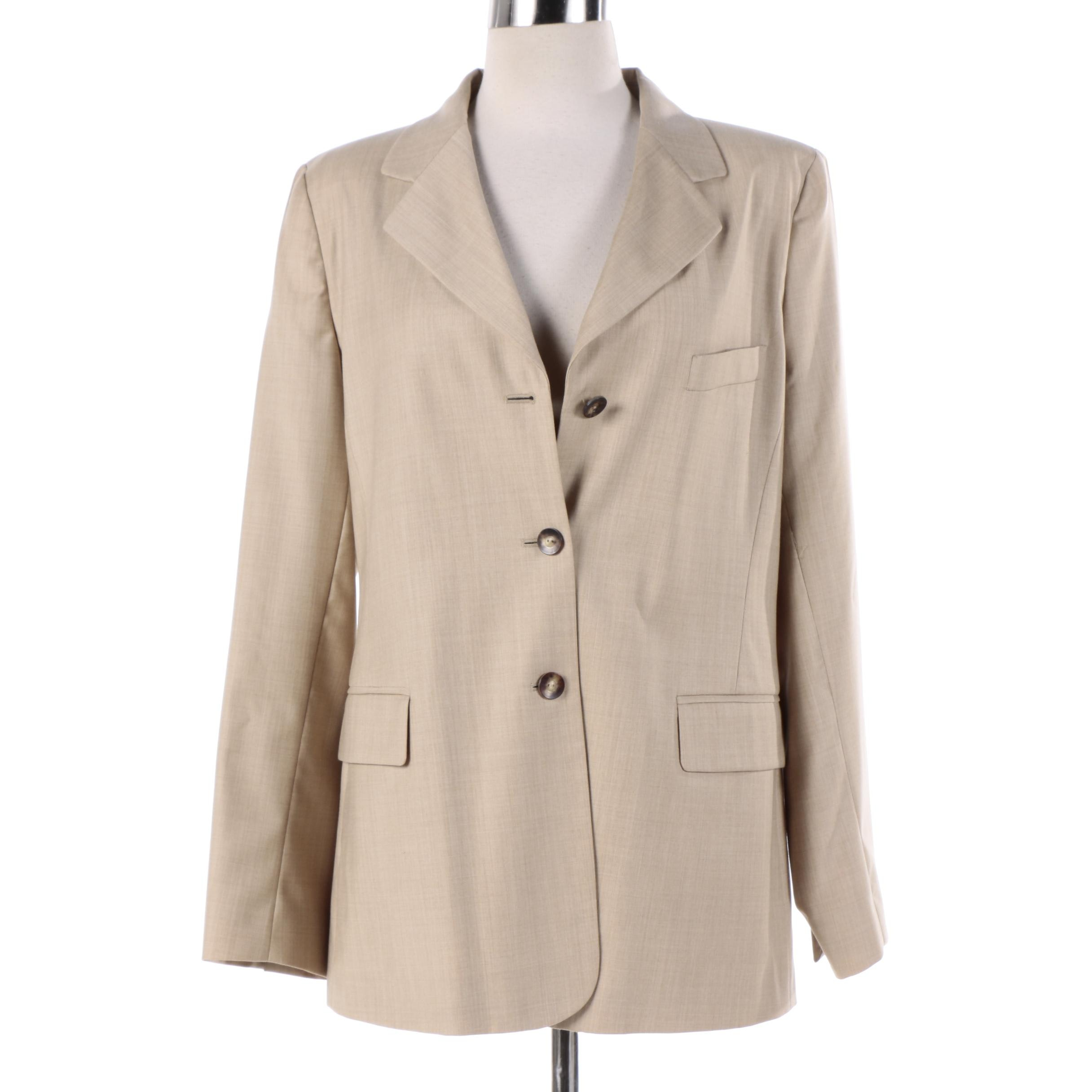 Women's Loro Piana Beige Wool Jacket