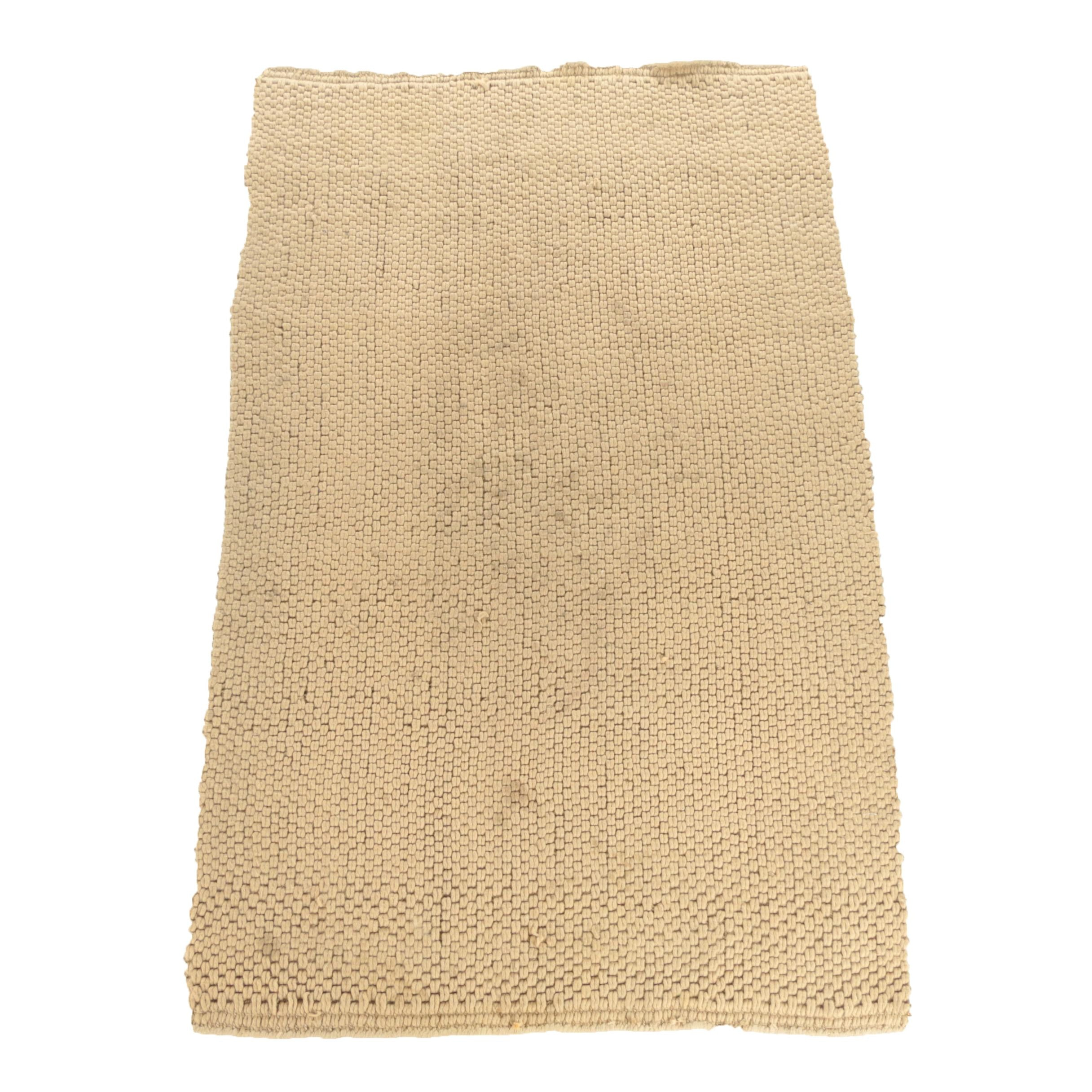 Handwoven Indian Jute and Wool Area Rug for West Elm