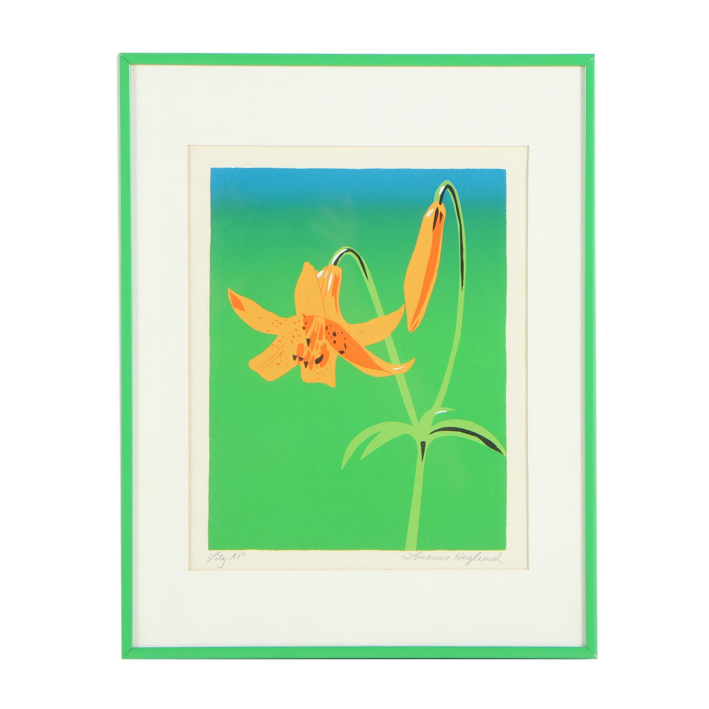 "Artist Proof Serigraph ""Lily"""