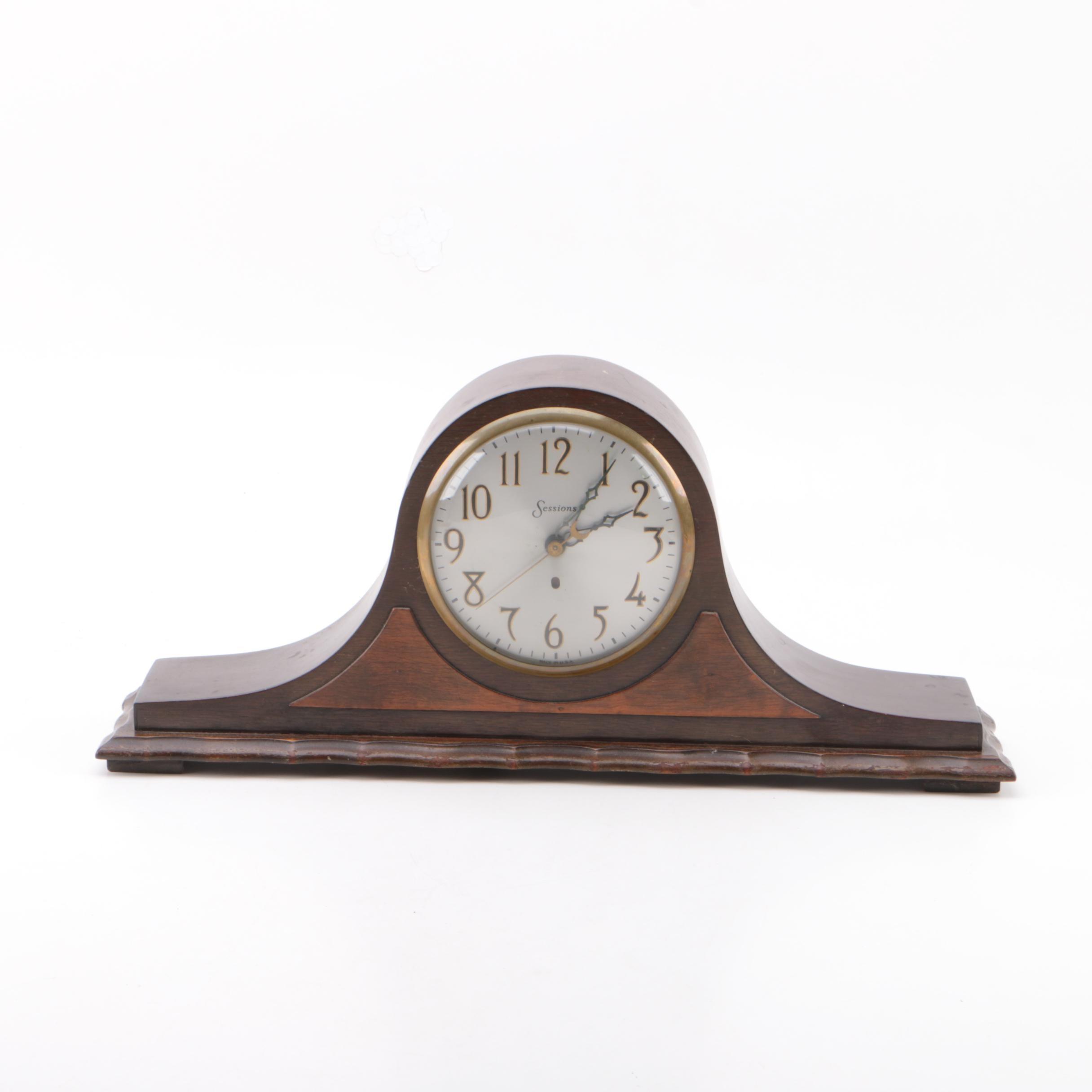 """Vintage Sessions """"Juneau"""" Electric Tambour Mantel Clock"""
