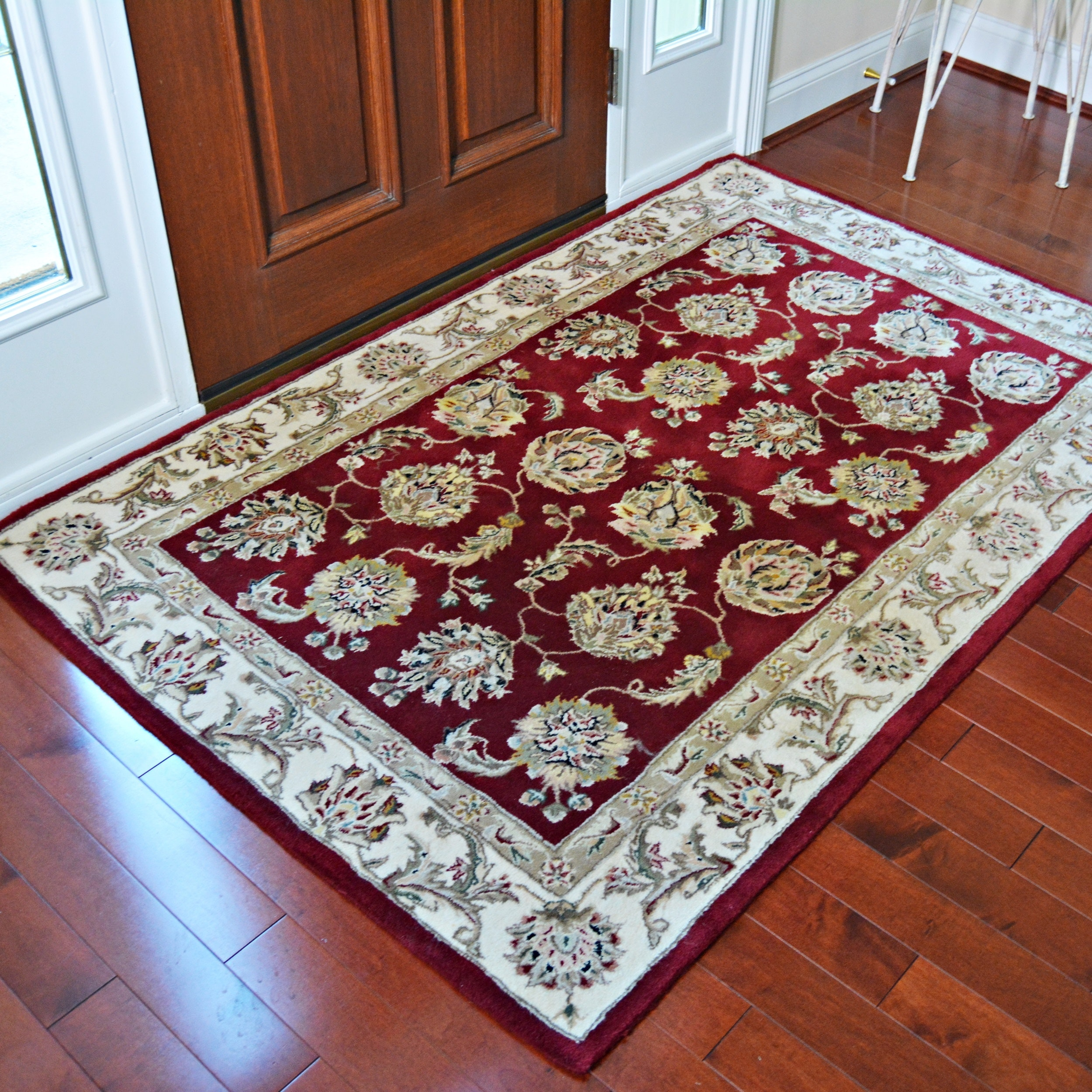 Hand Tufted Wool and Silk Area Rug