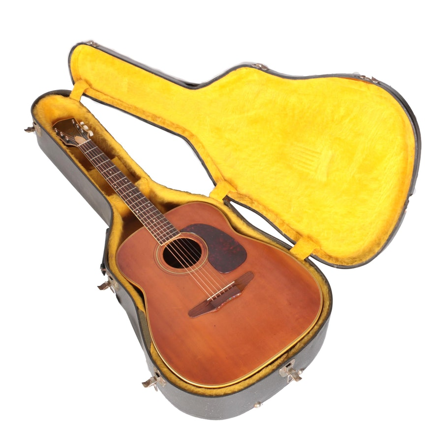 vintage harmony sovereign h 6560 1975 jumbo acoustic guitar with case ebth. Black Bedroom Furniture Sets. Home Design Ideas