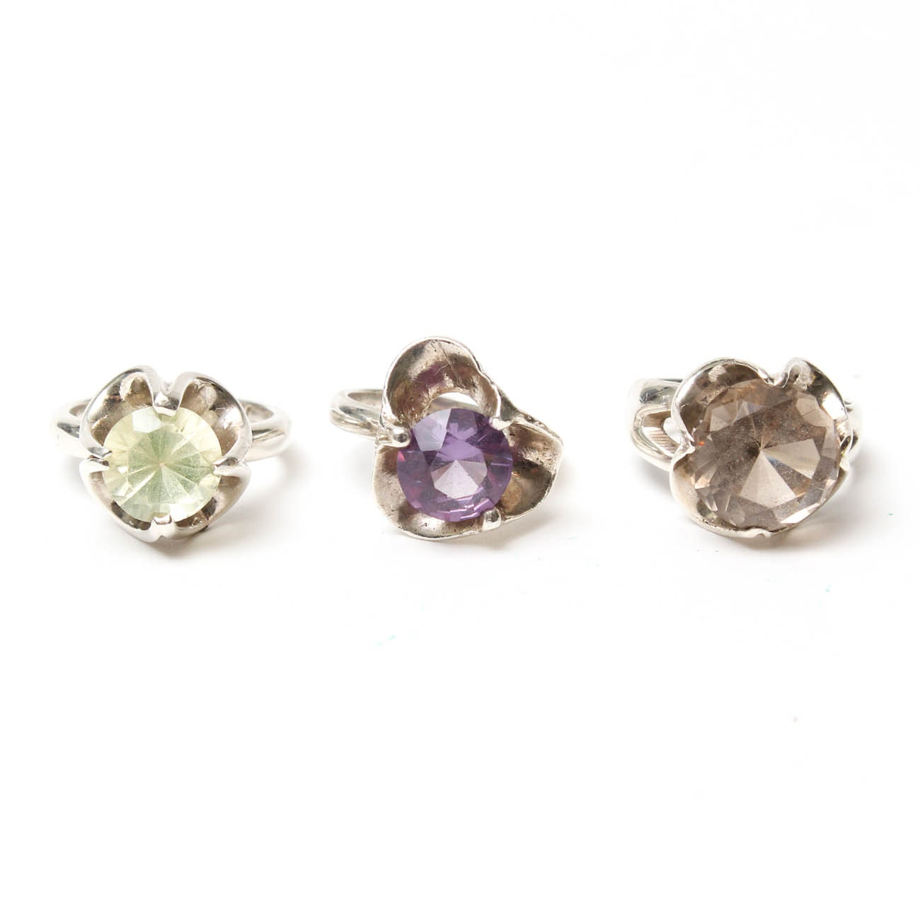Vintage Sterling Silver Rings with Gemstones