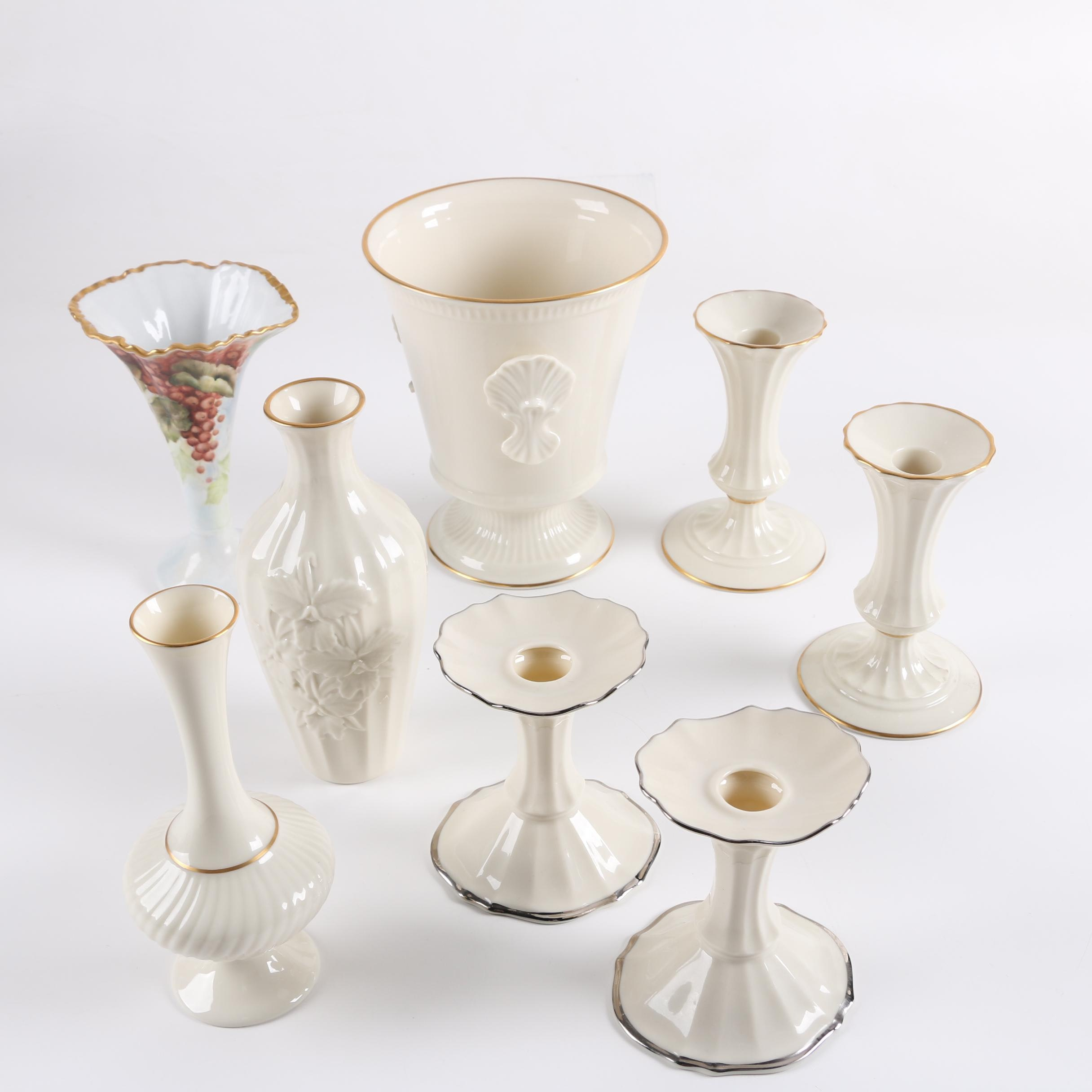 Lenox Porcelain Candlesticks and Vases