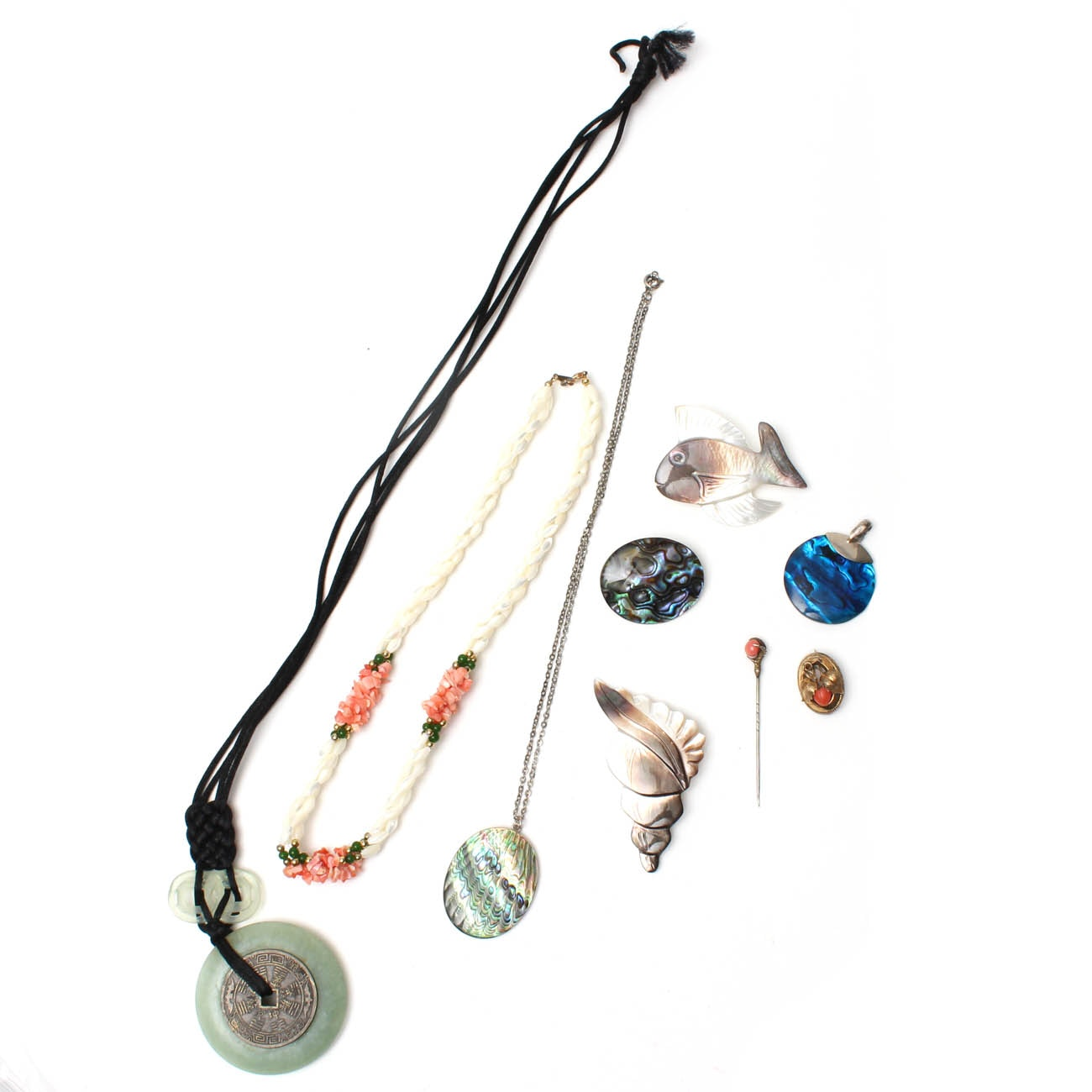 Sterling and 800 Silver Jewelry with Gemstones