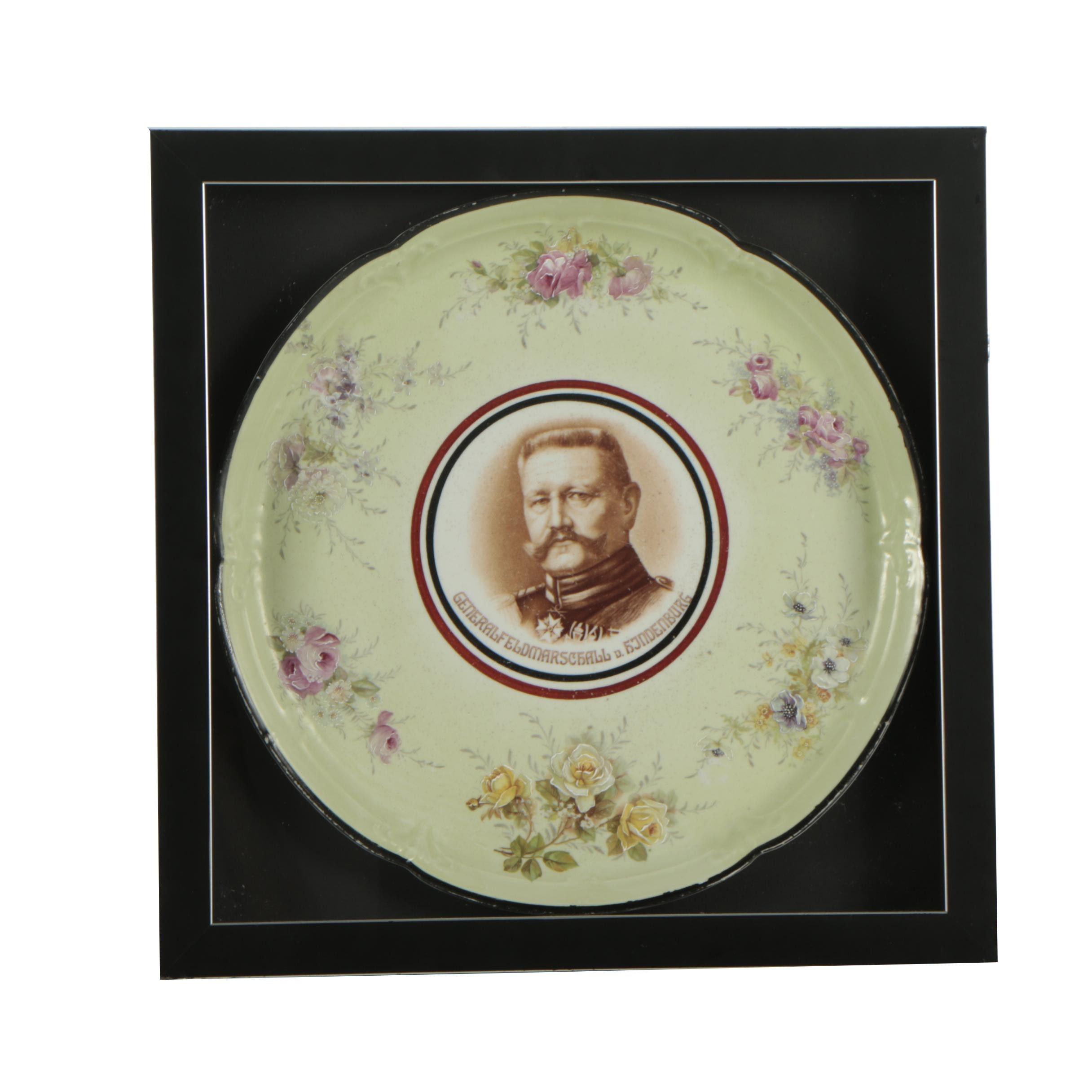 Decorative Ceramic Plate of Paul von Hindenburg