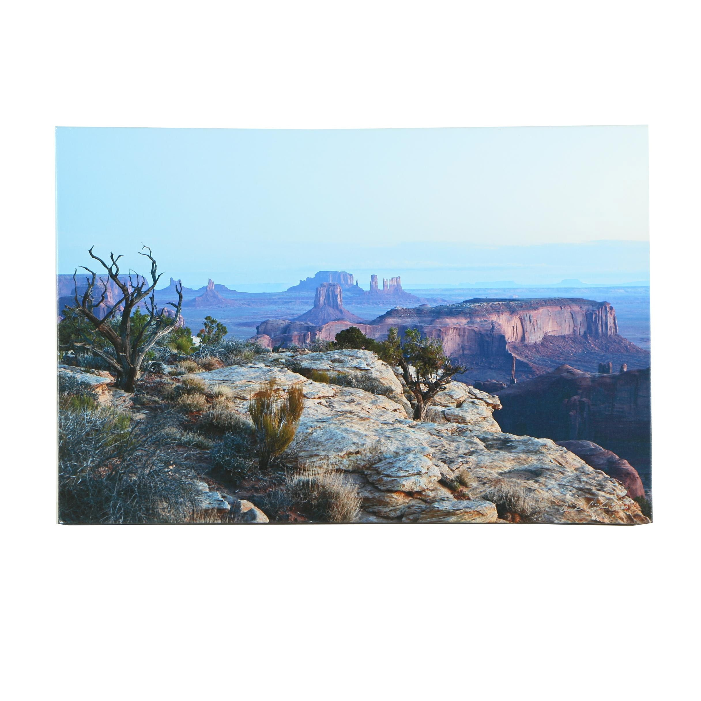 Limited Edition Giclee of Mesas on Canvas