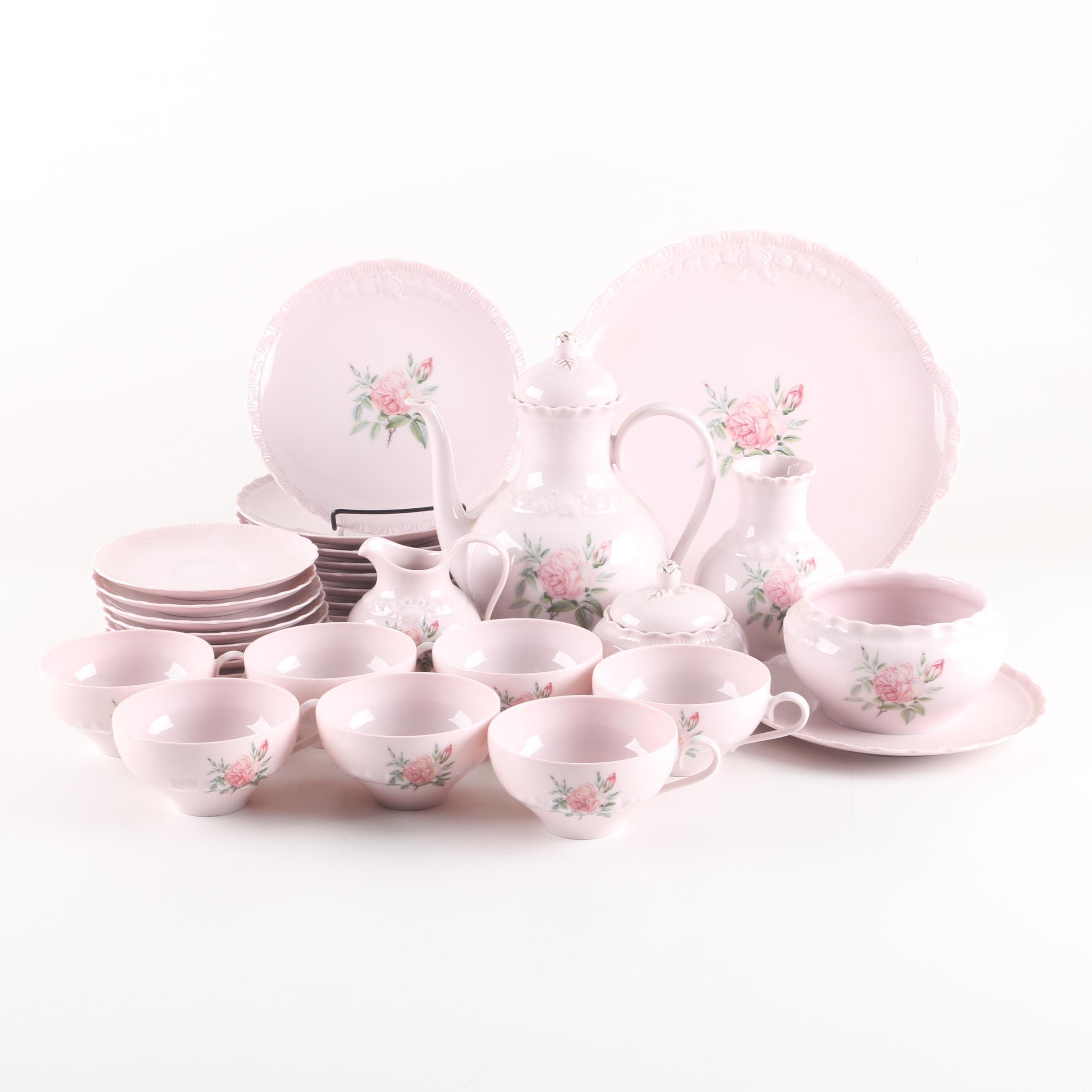 """Hutschenreuther """"Porcelain Rose"""" Dinnerware"""