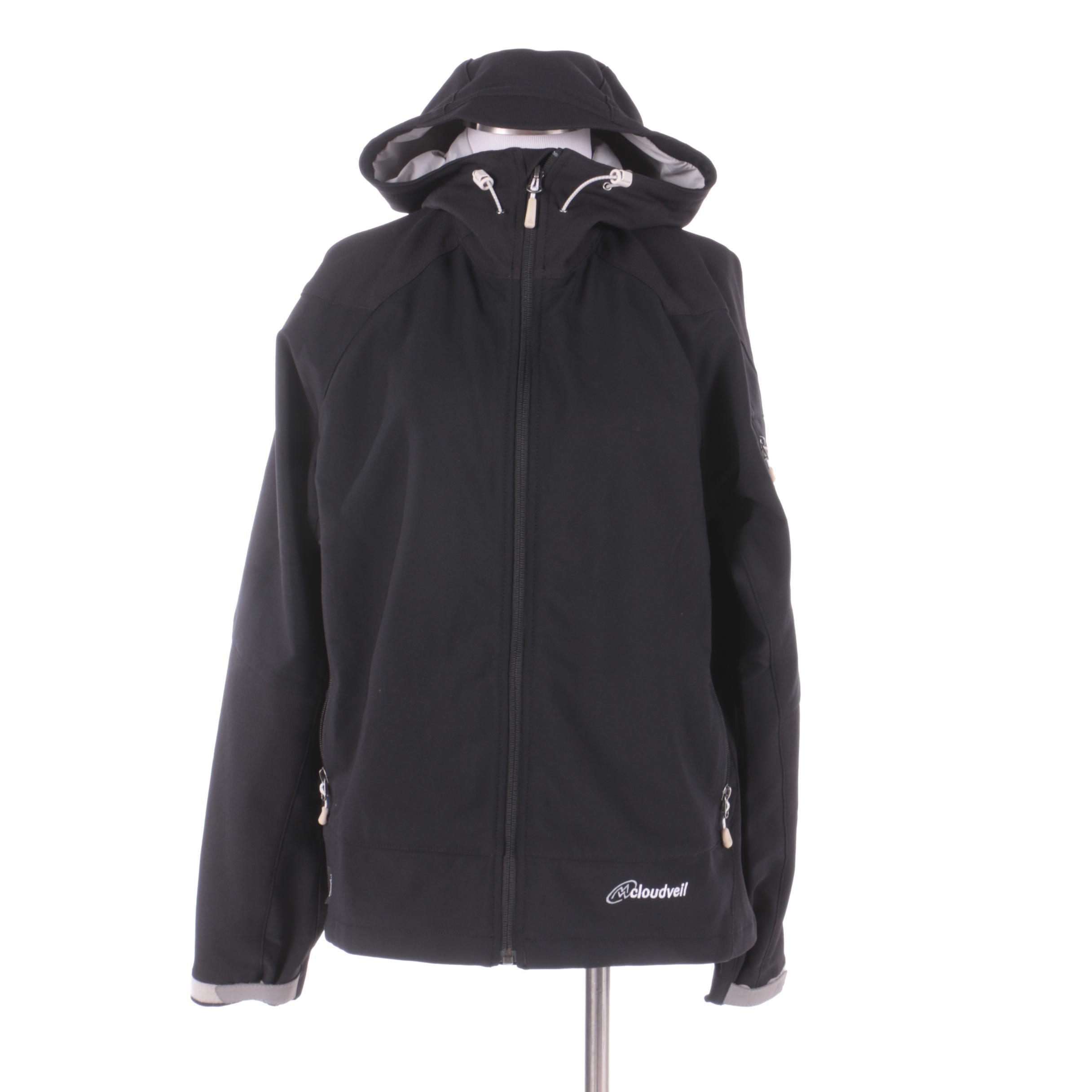 Women's Cloudveil Black Hooded Jacket