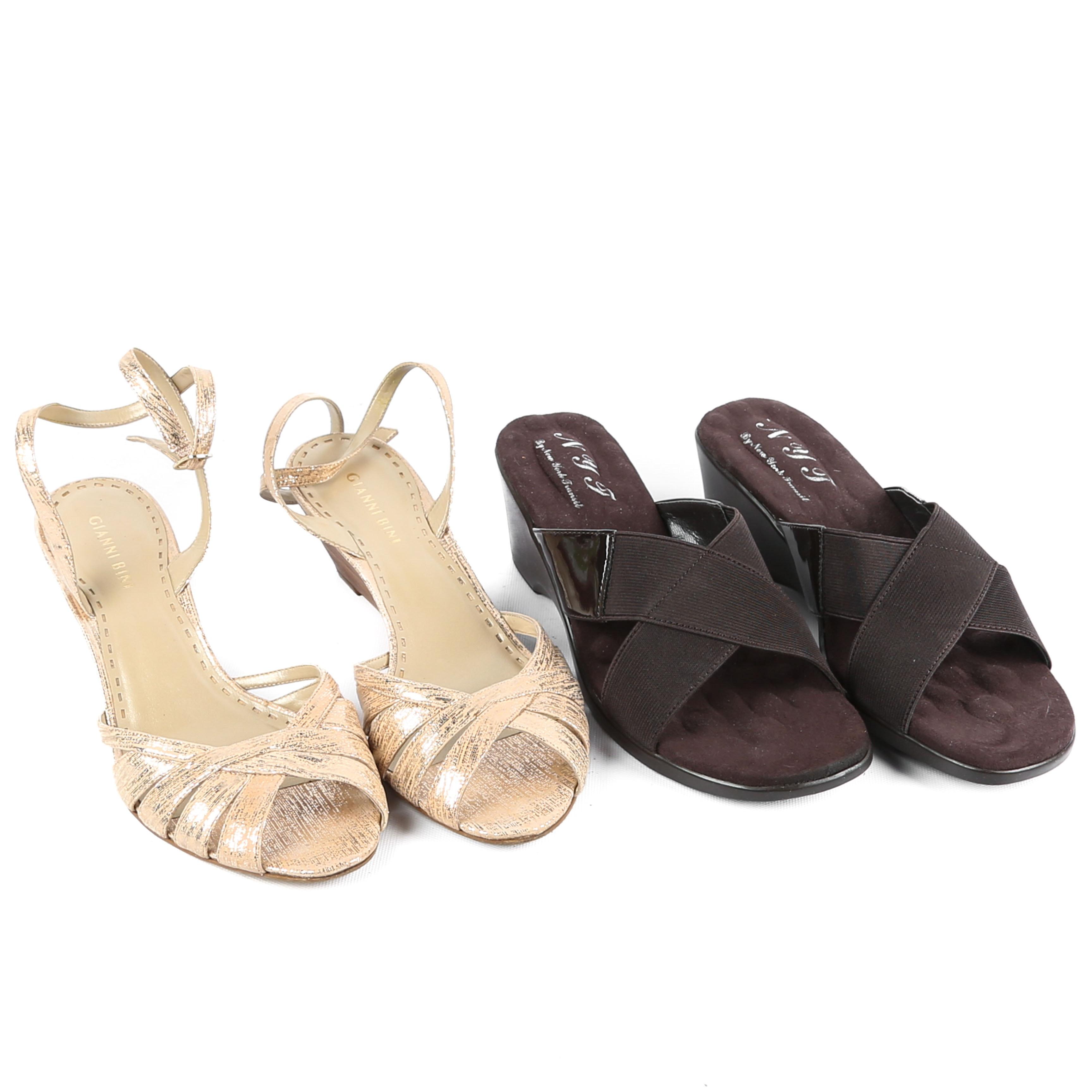 Women's Gianni Bini Dress Sandals and NYT Slide Sandals