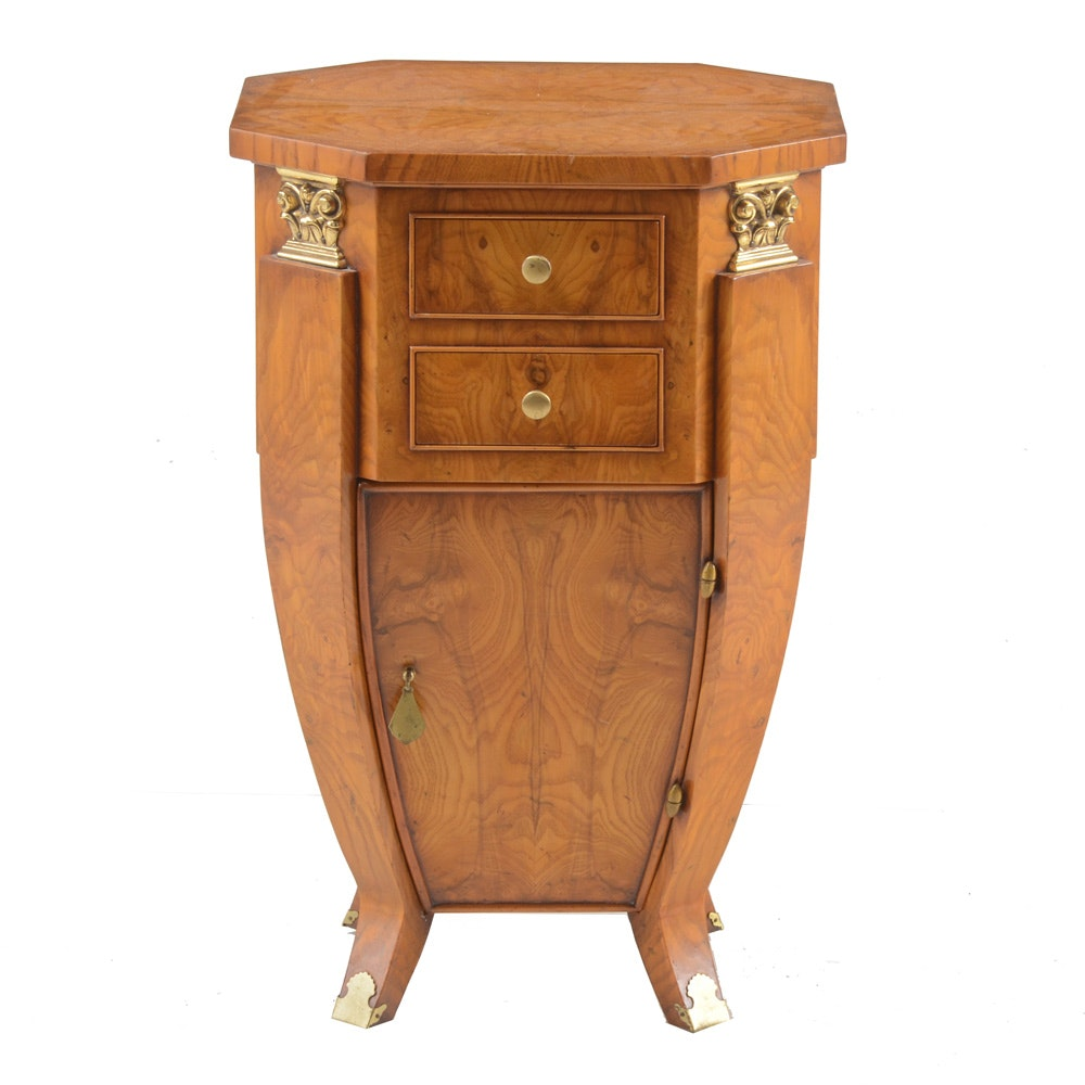 William Switzer Burled Wood End Table