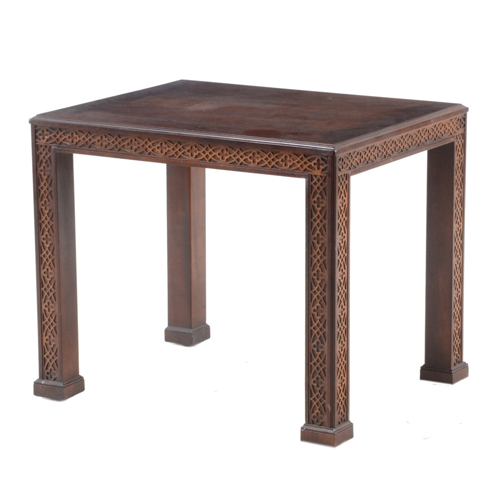 Mahogany Chippendale Style End Table