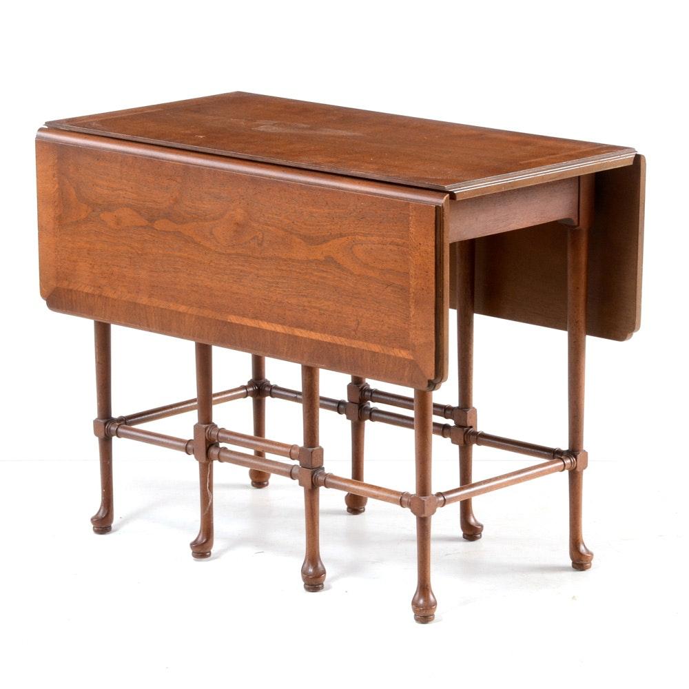 Inlaid Mahogany Drop-Leaf Gate-Leg Coffee Table