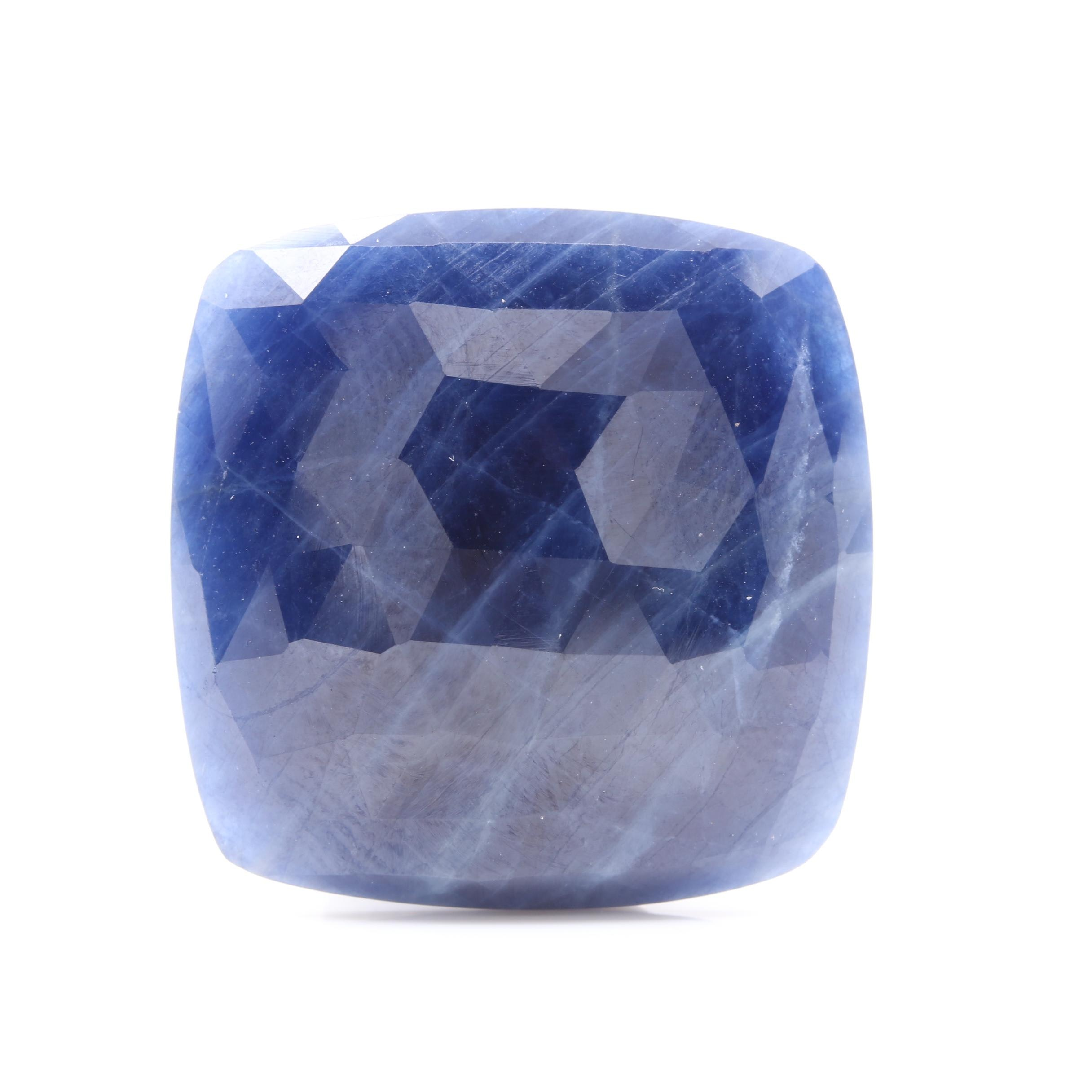 Loose 40.61 CT Untreated Sapphire Including GIA Report