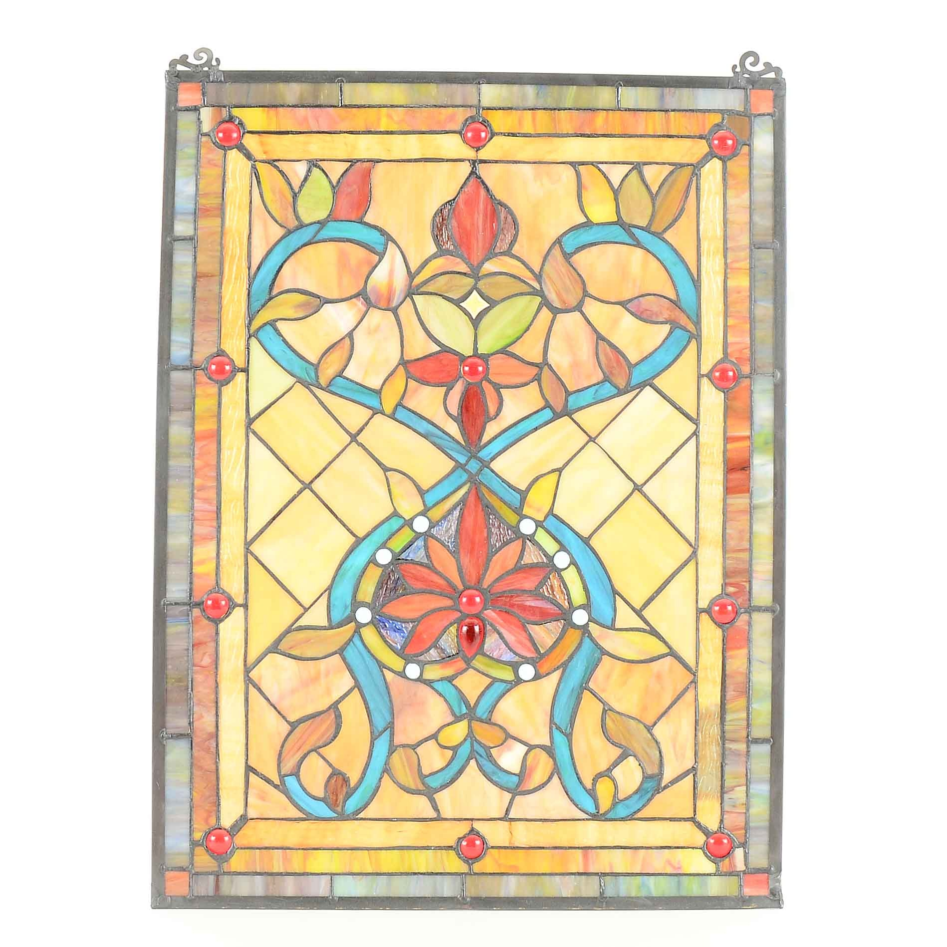 Stained Glass Panel with Chain
