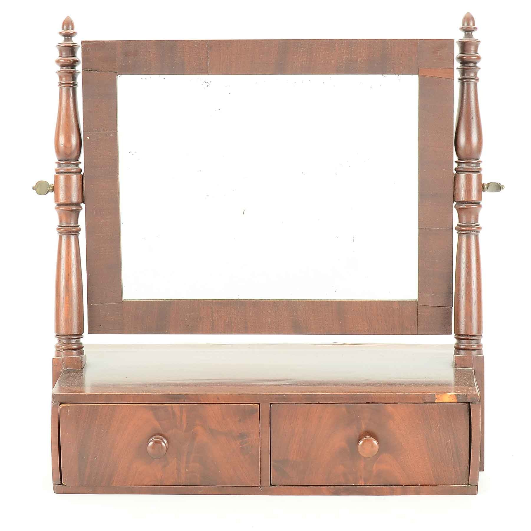 Vintage Empire Mahogany Shaving Mirror