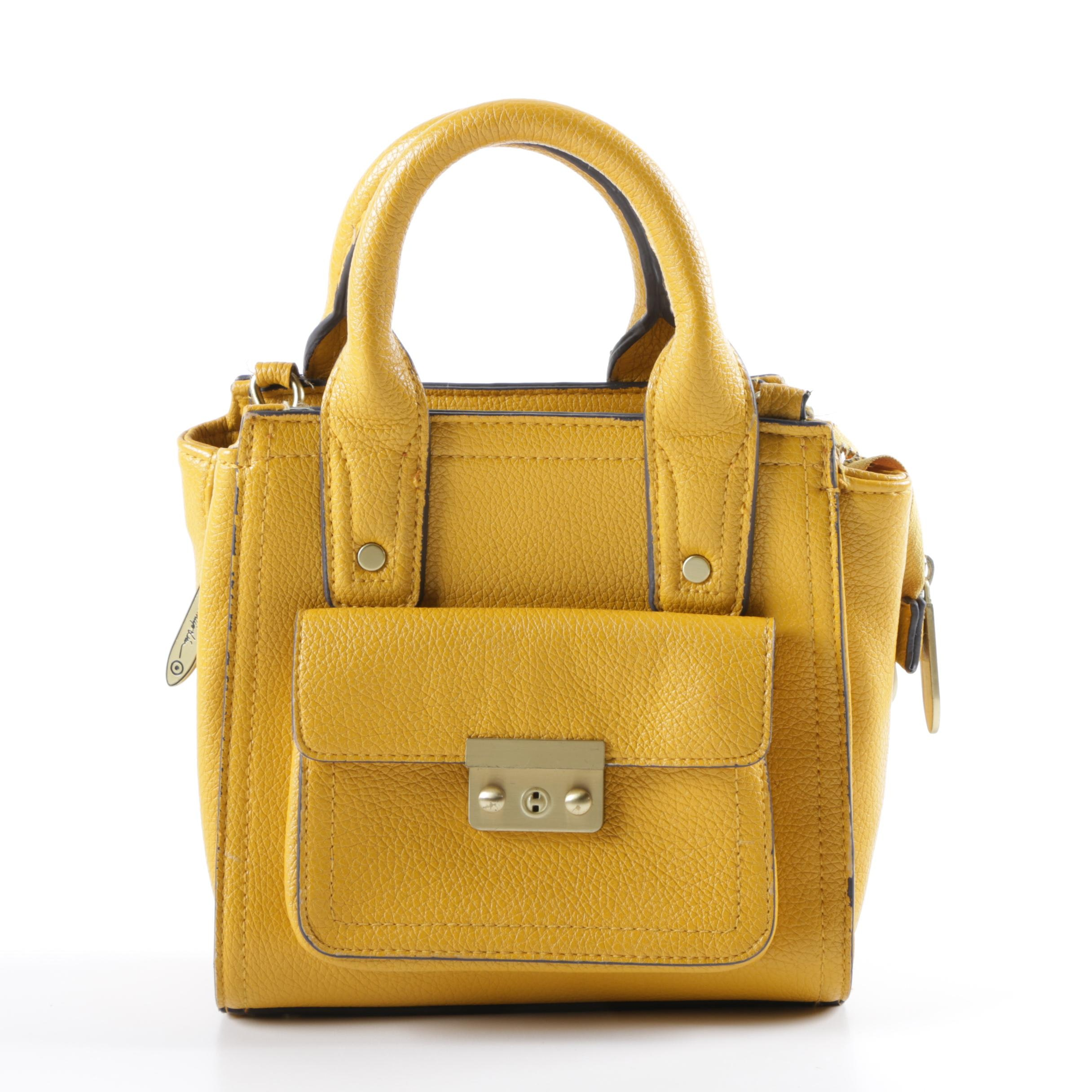 3.1 Phillip Lim for Target with Gusset Yellow Faux Leather Handbag