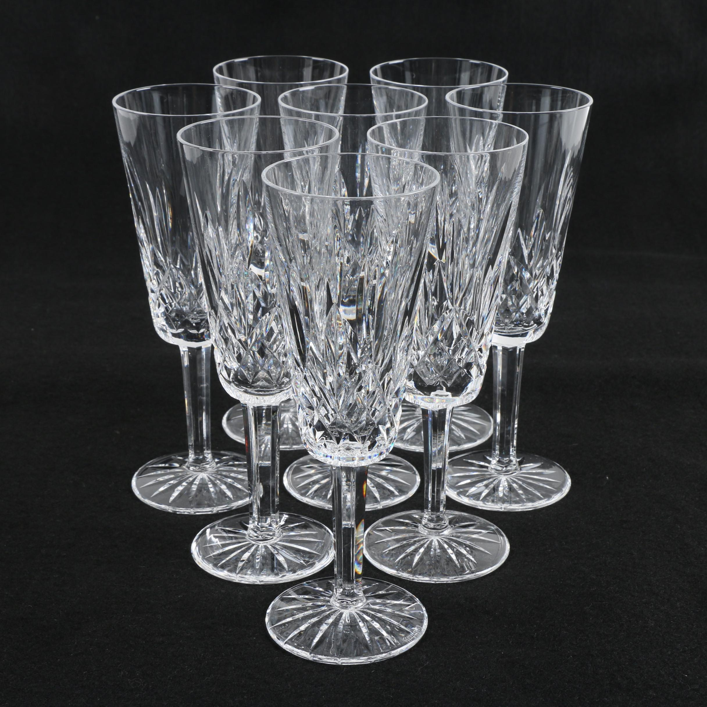 """Waterford Crystal """"Lismore"""" Champagne Flutes"""