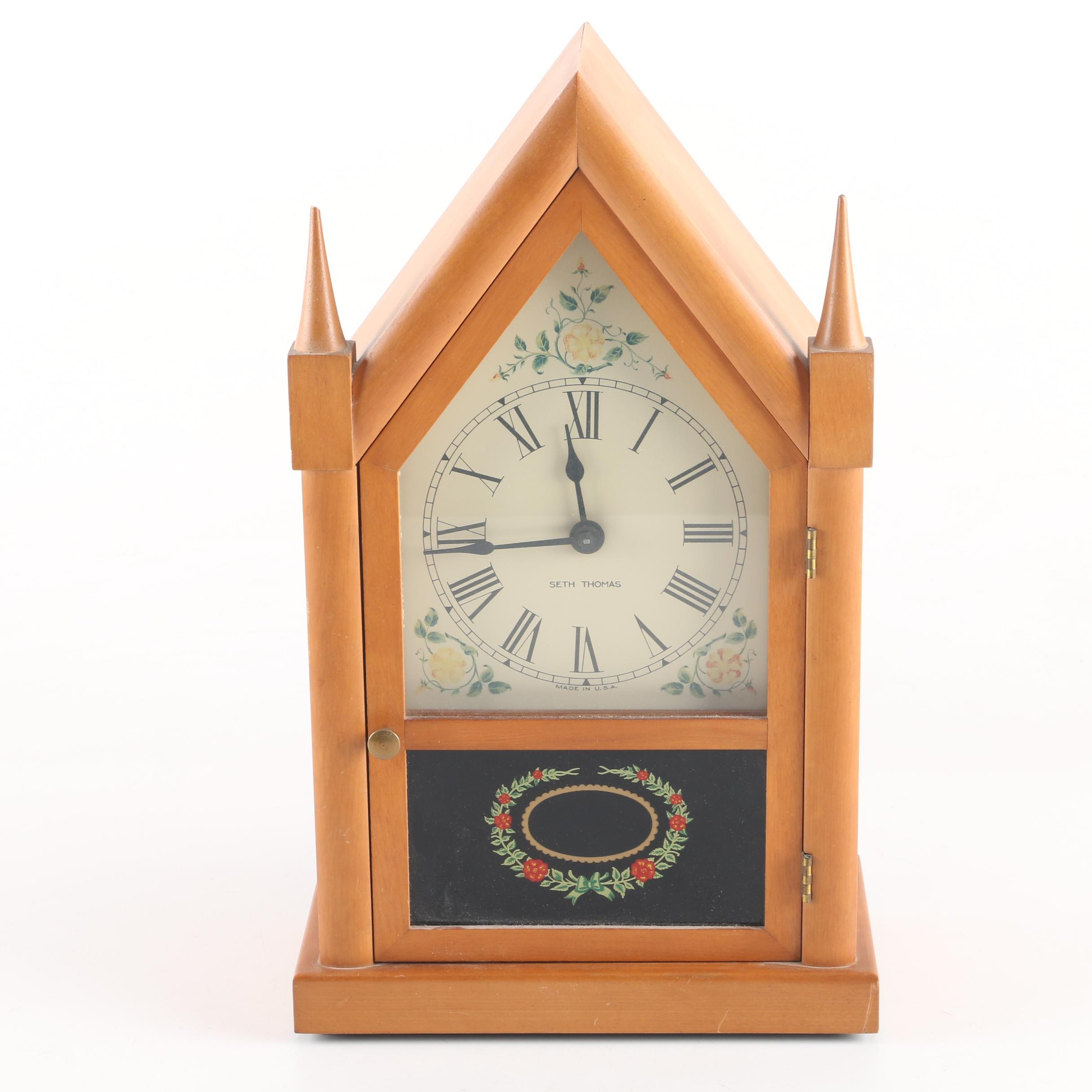 "Mid-Century Seth Thomas ""Sharon"" Steeple Clock"