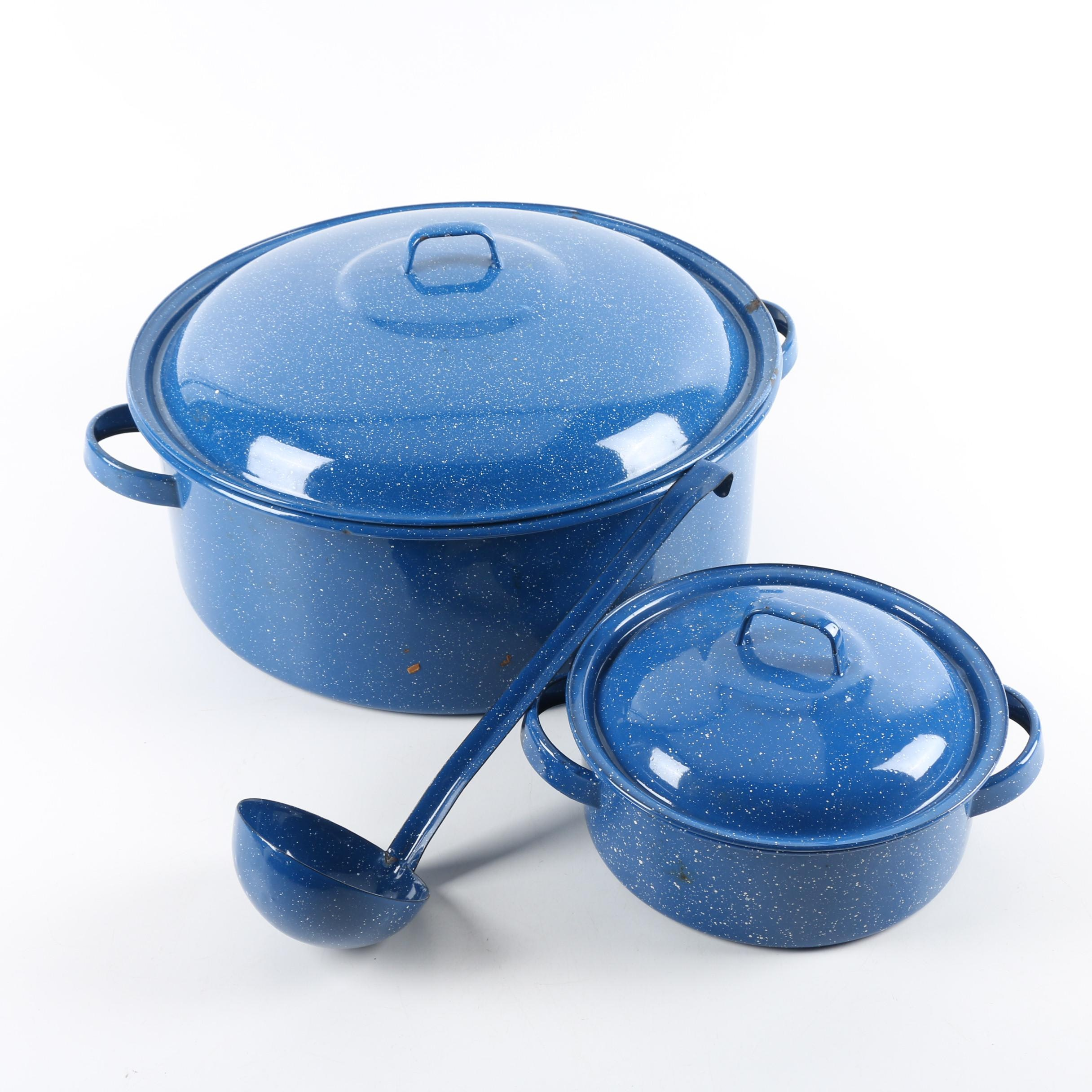 Blue Speckled Enamel Cookware