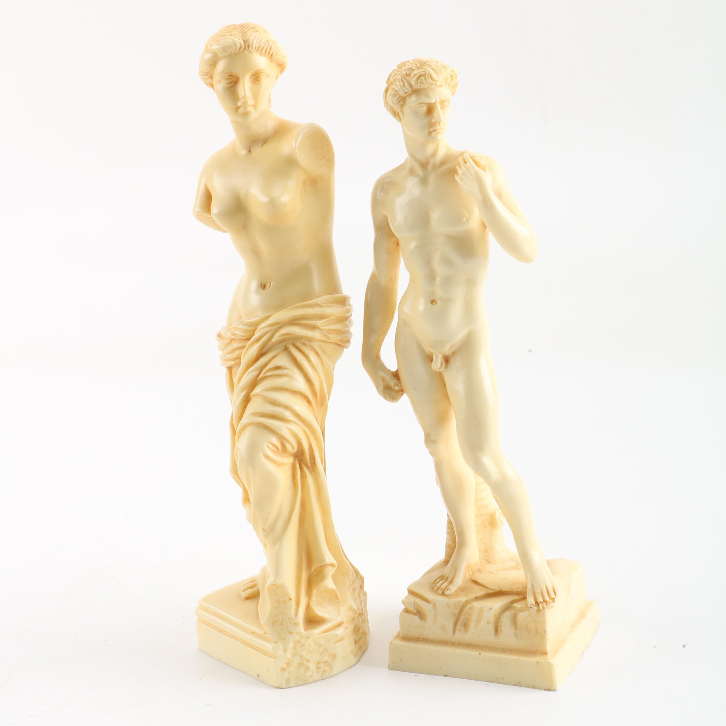 Cast Resin Neoclassical Figurines
