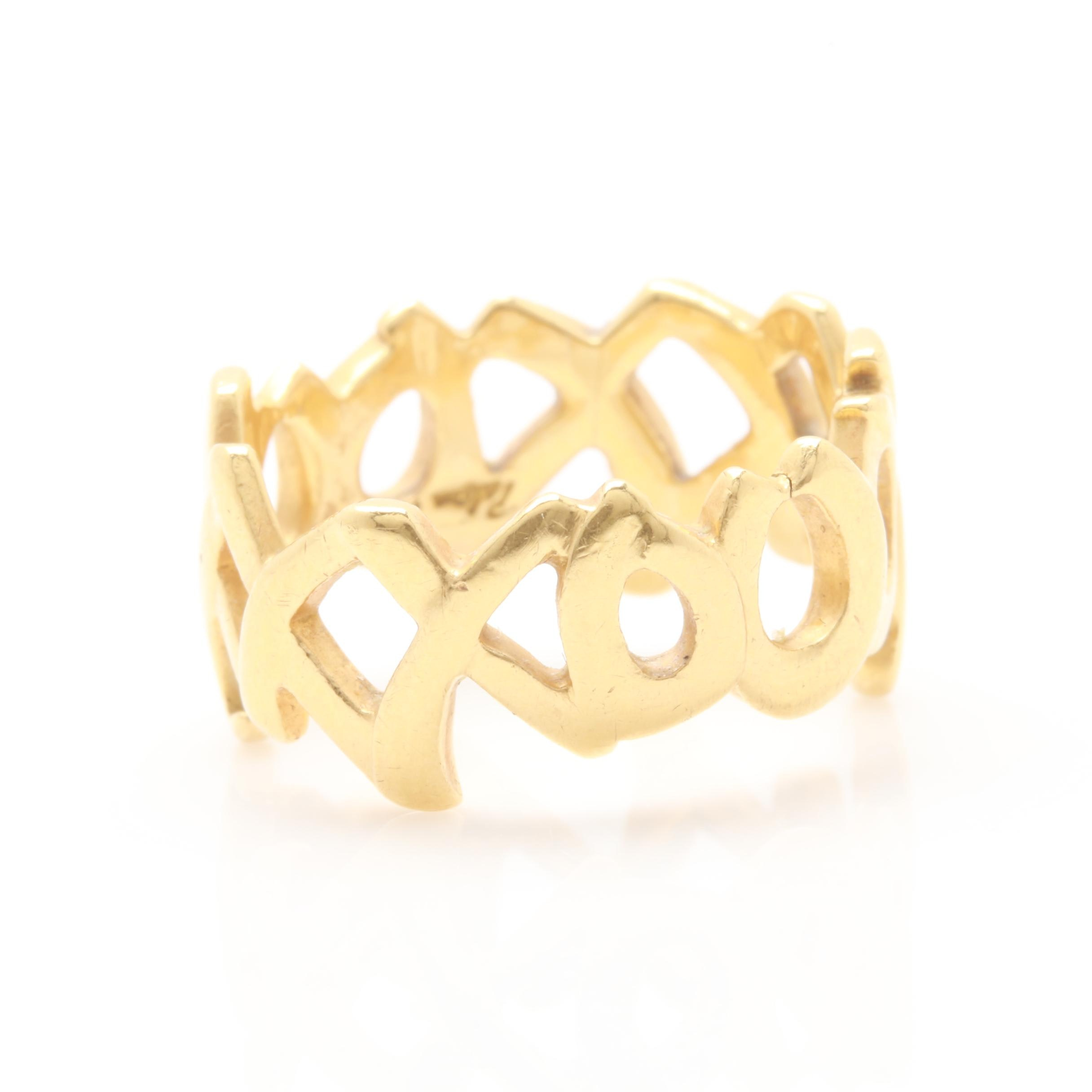 Vintage Paloma Picasso for Tiffany & Co. 18K Yellow Gold Ring